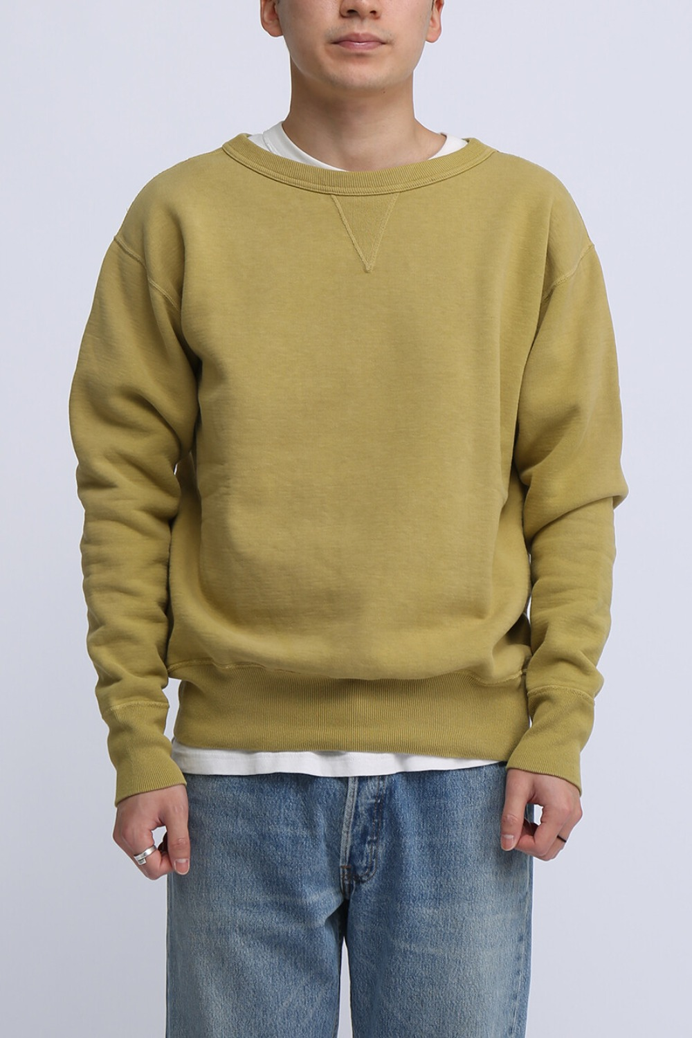 "LOT 474 CREW NECK SWEAT ""FADED"" YELLOW"