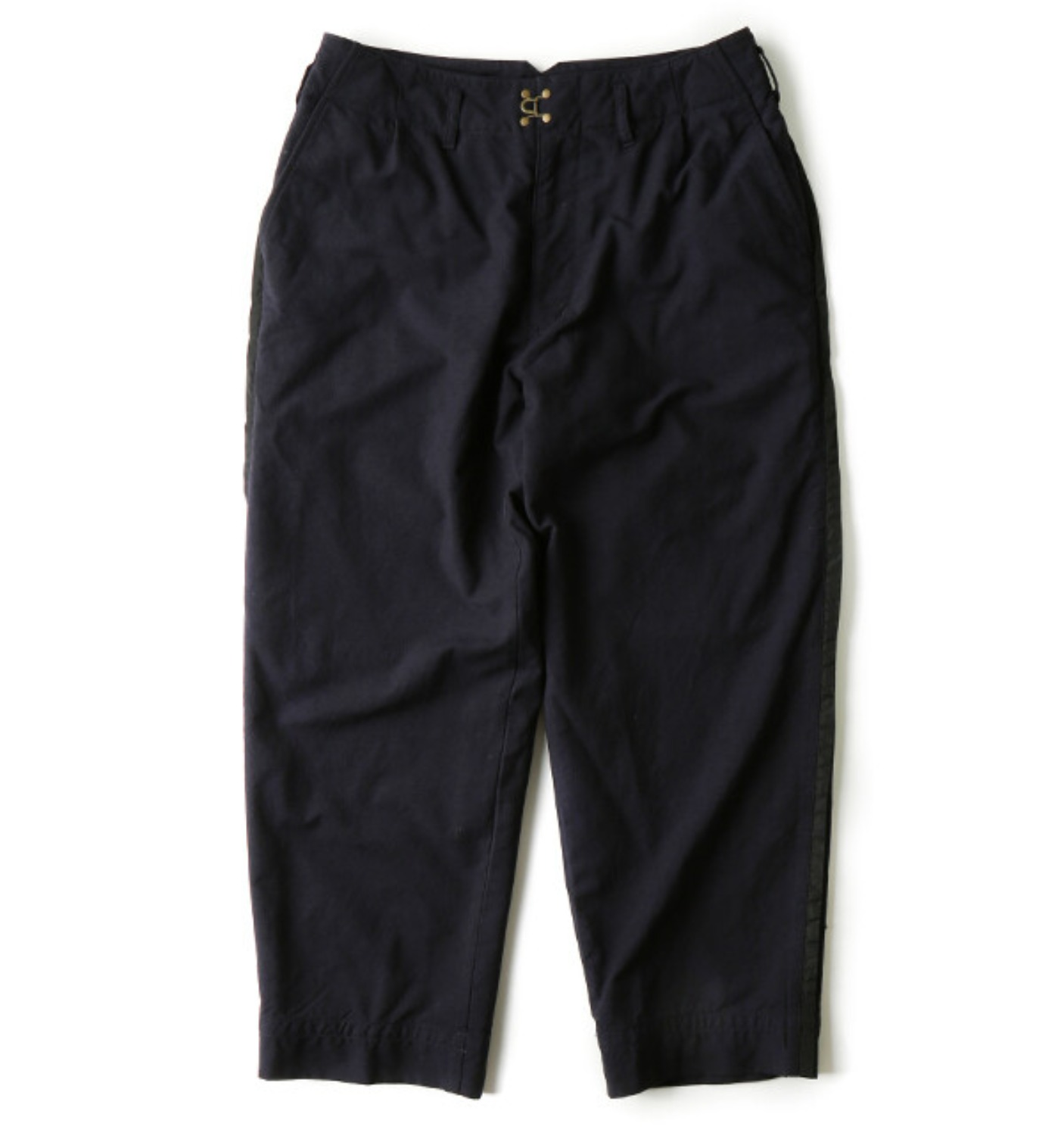 SHRINK SIDE LINE WOOL PANTS NAVY (P03103)