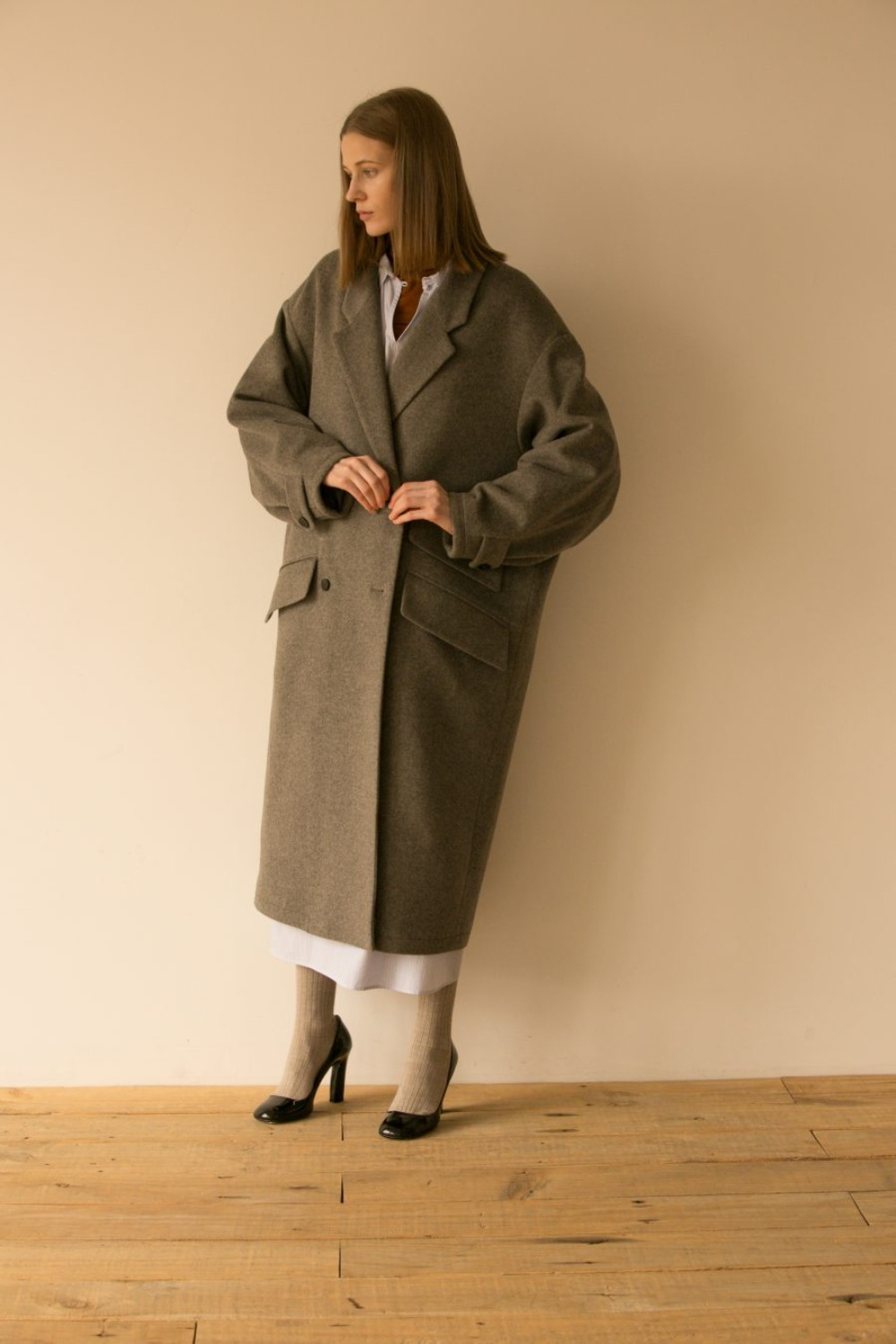 DANSE OVERSIZED COAT ANGORA GREY
