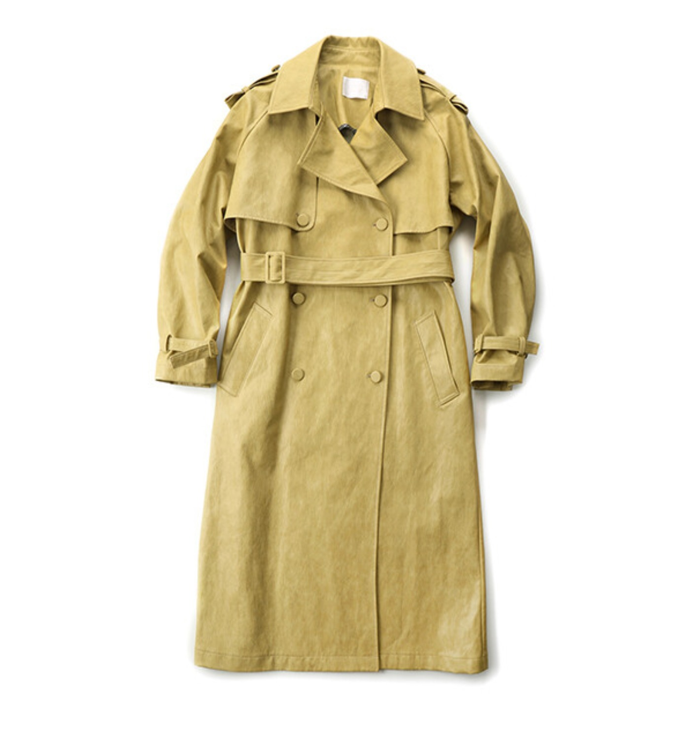 SCENE TRENCH COAT SAND LEATHER (MDS07CT01)