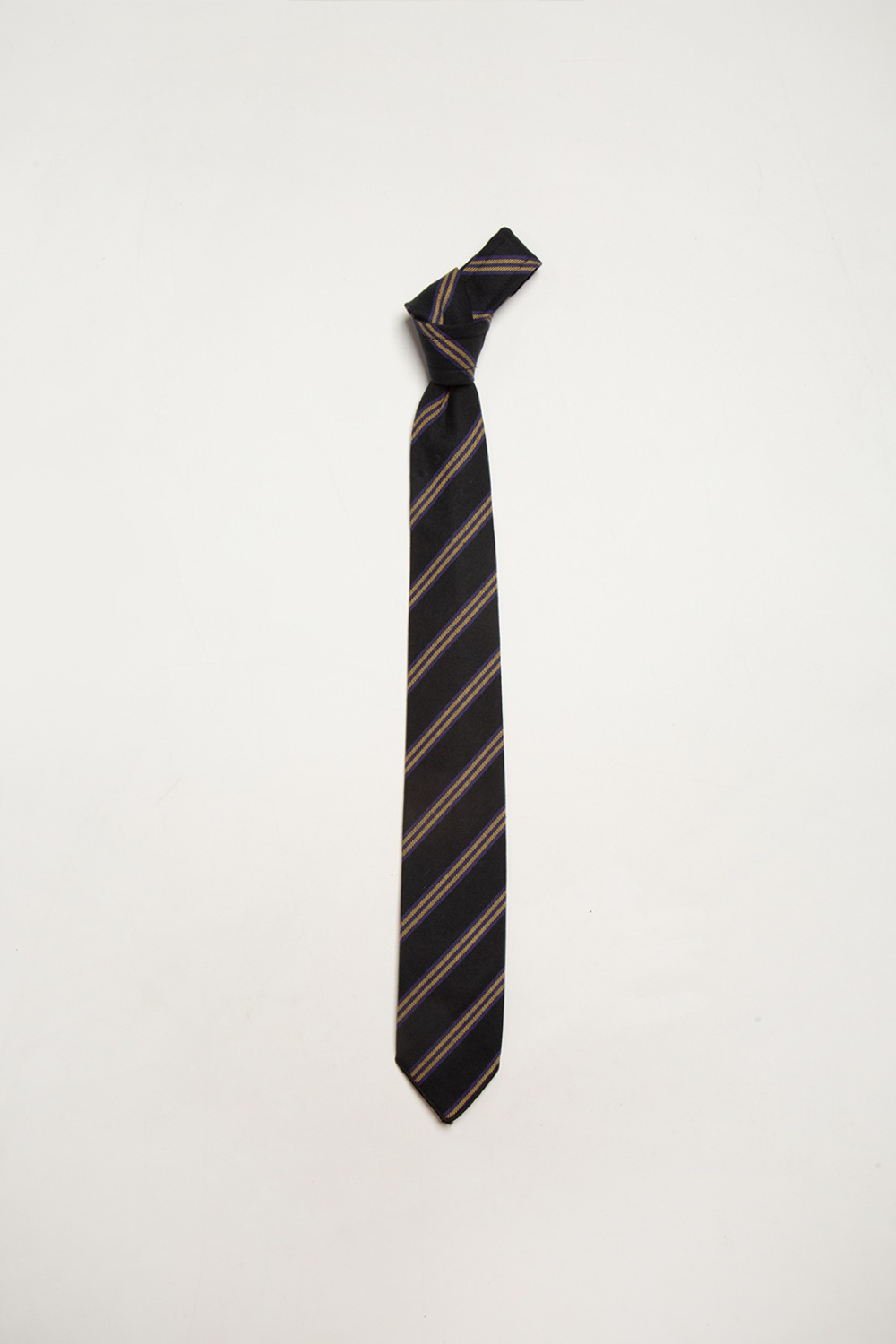 NECK TIE BLACK HEAVY TWILL REGENT