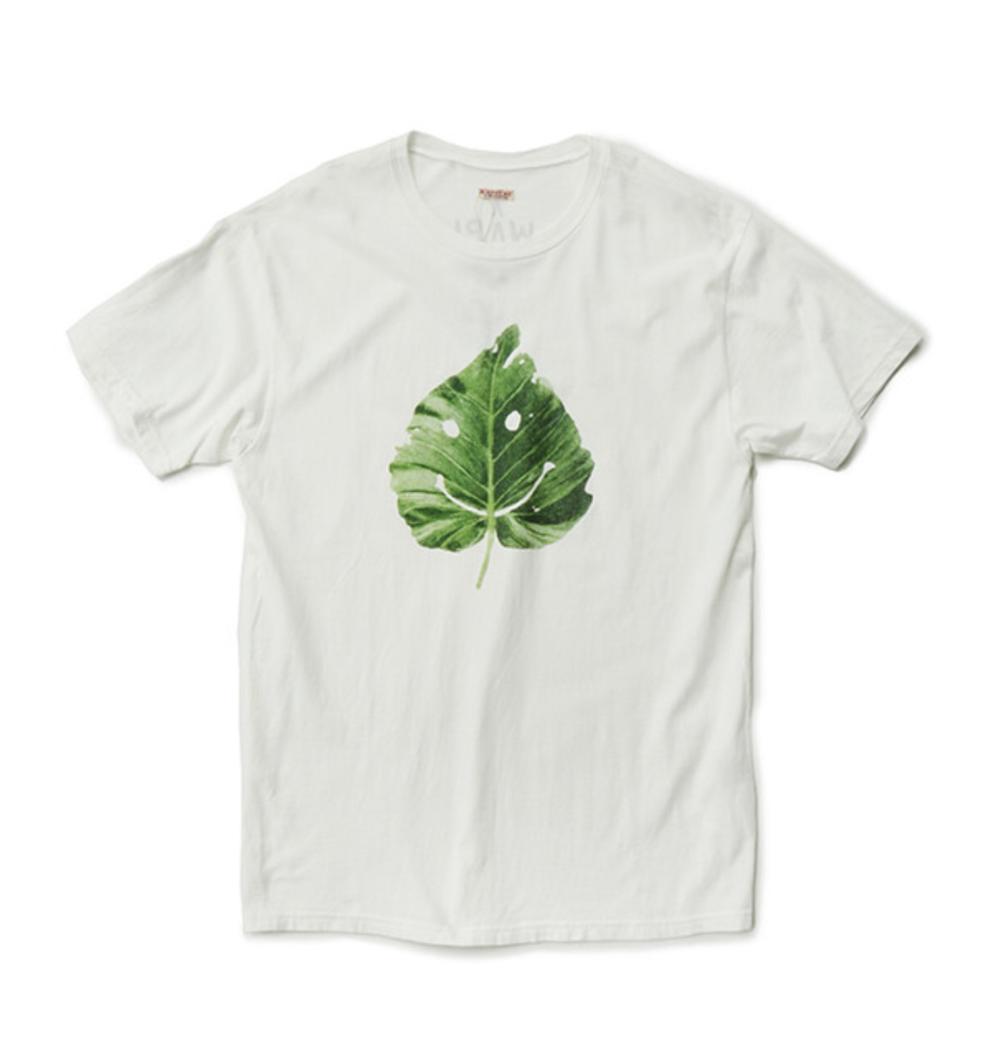 JERSEY CREW T SMILE LEAF WHITE
