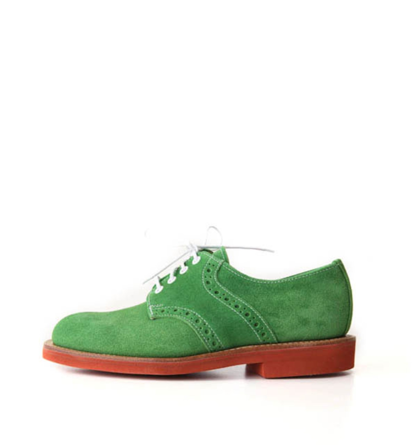 Suede Kelly Green Saddle Shoes Ladies 8788KS