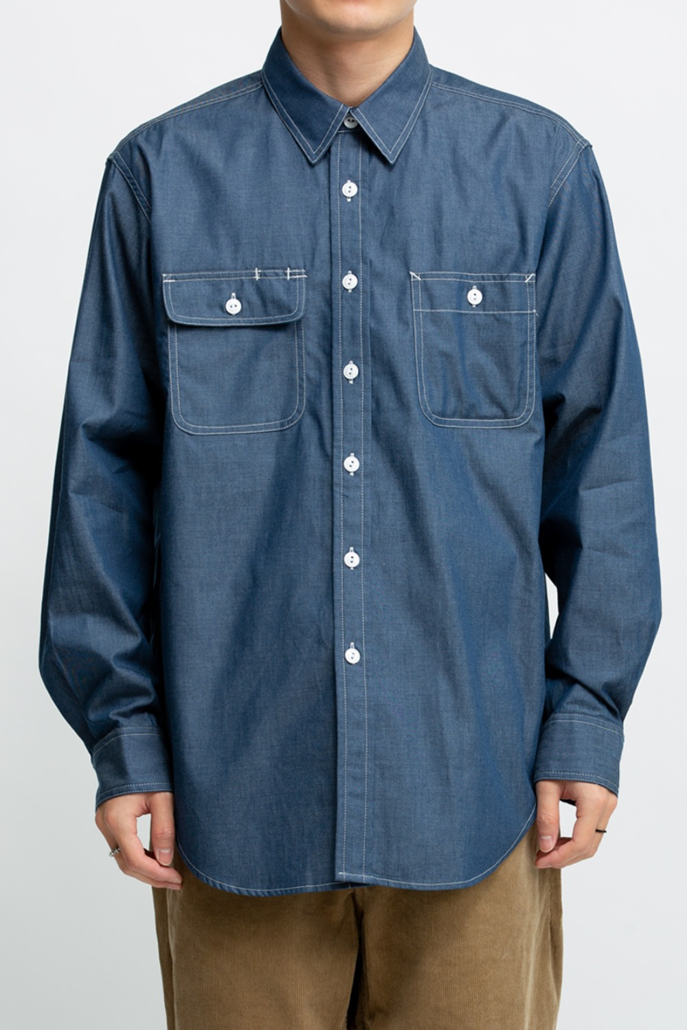 UTILITY SHIRT NAVY LIGHT WEIGHT DENIM