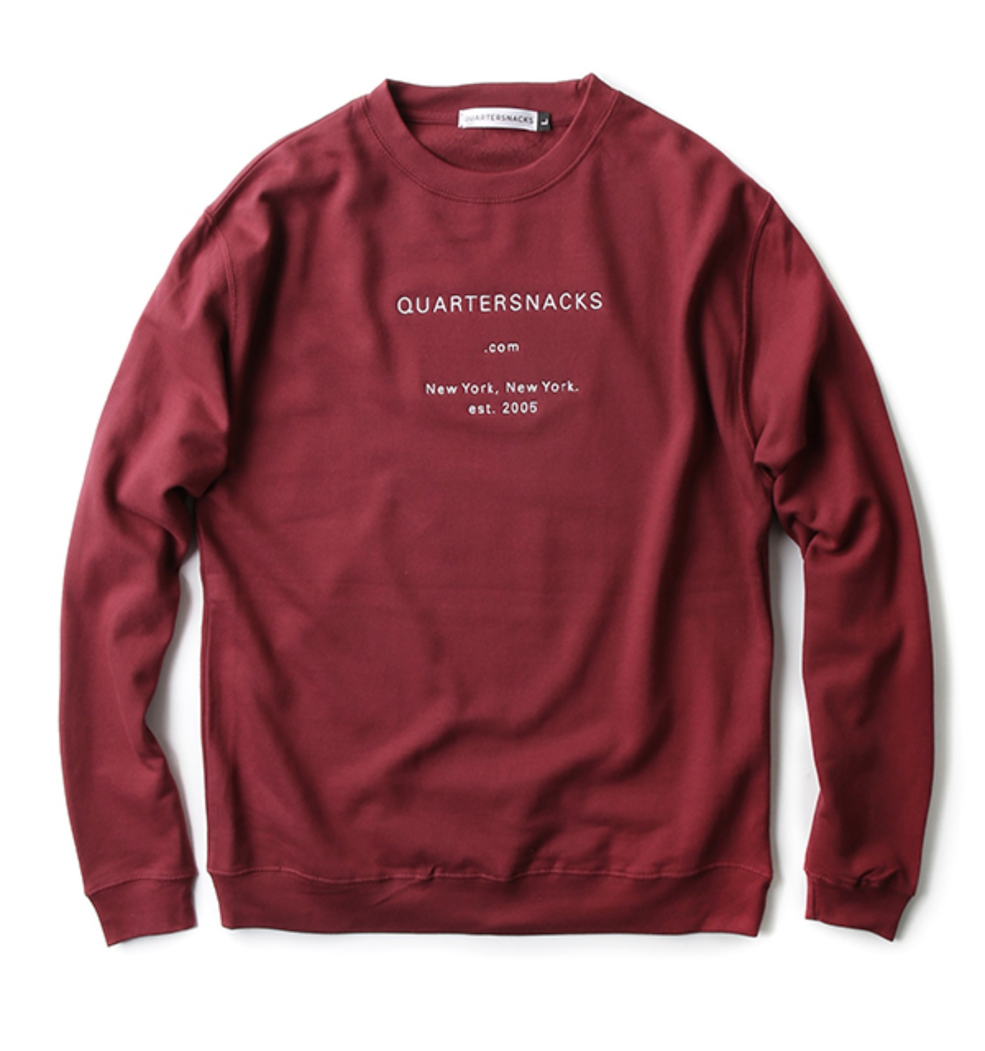 DOT COM CREW NECK BURGUNDY