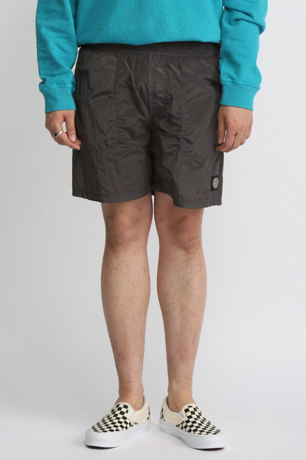 NYLON METAL SHORT PANTS(B0543) CHARCOAL