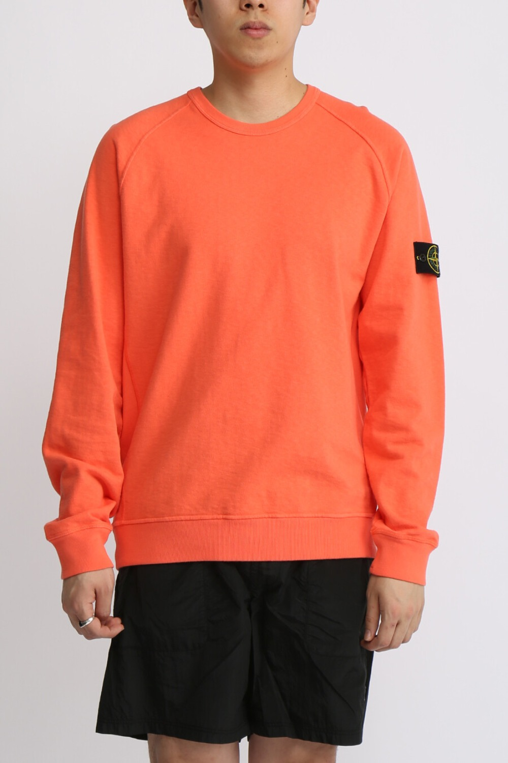 OLD EFFECT BRUSHED COTTON SWEATSHIRT(81M2060) ORANGE