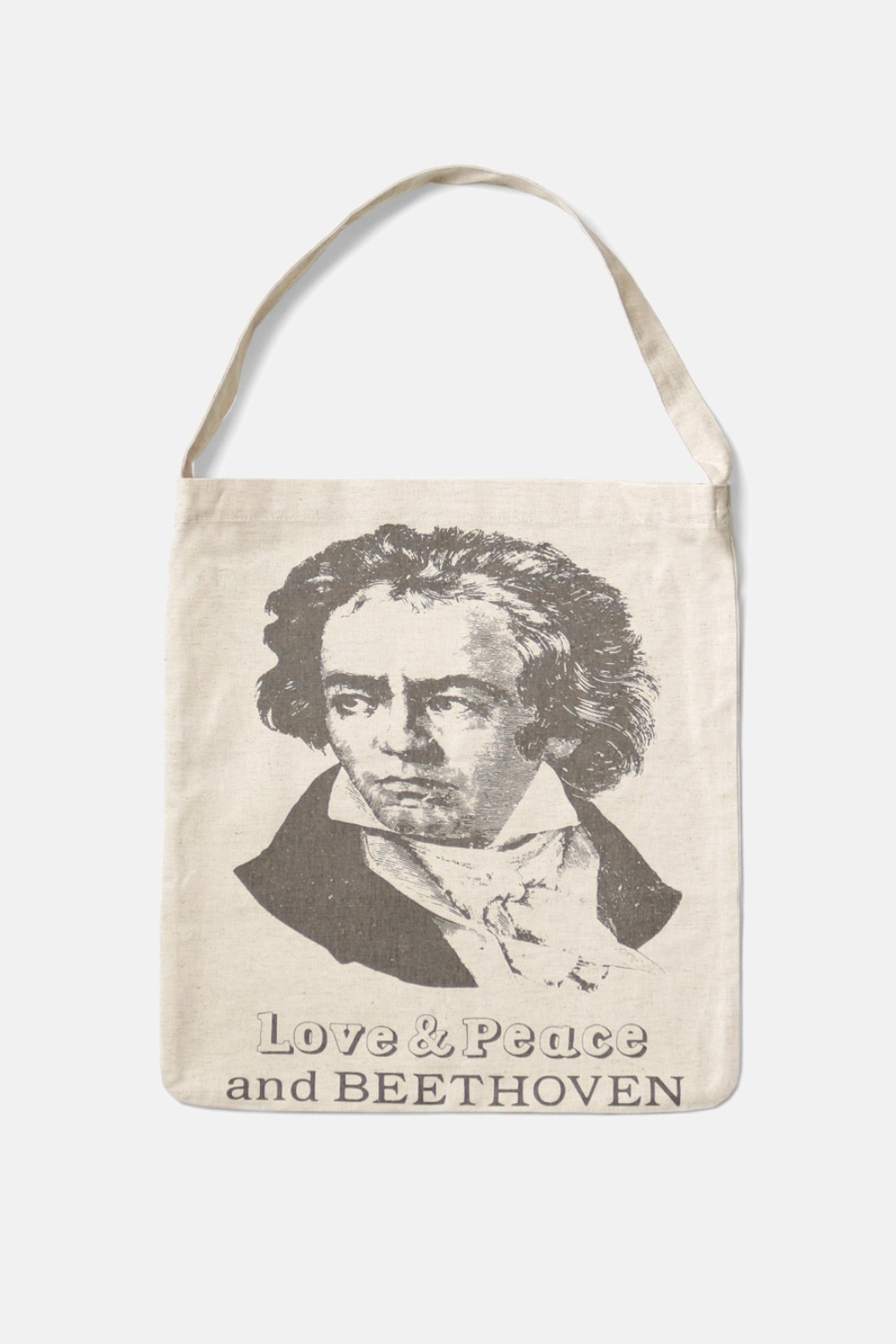 COTTON-LINEN CANVAS ECO BAG(LOVE&PEACE)