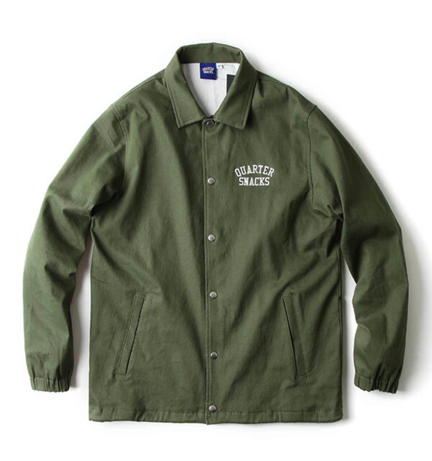COTTON CANVAS COACH JACKET OLIVE