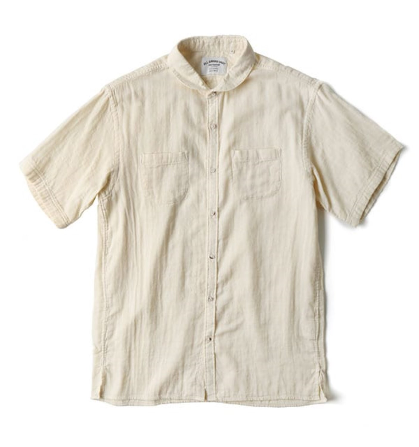 BAS03 IVORY SOLID DOUBLE CLOTH SHIRT
