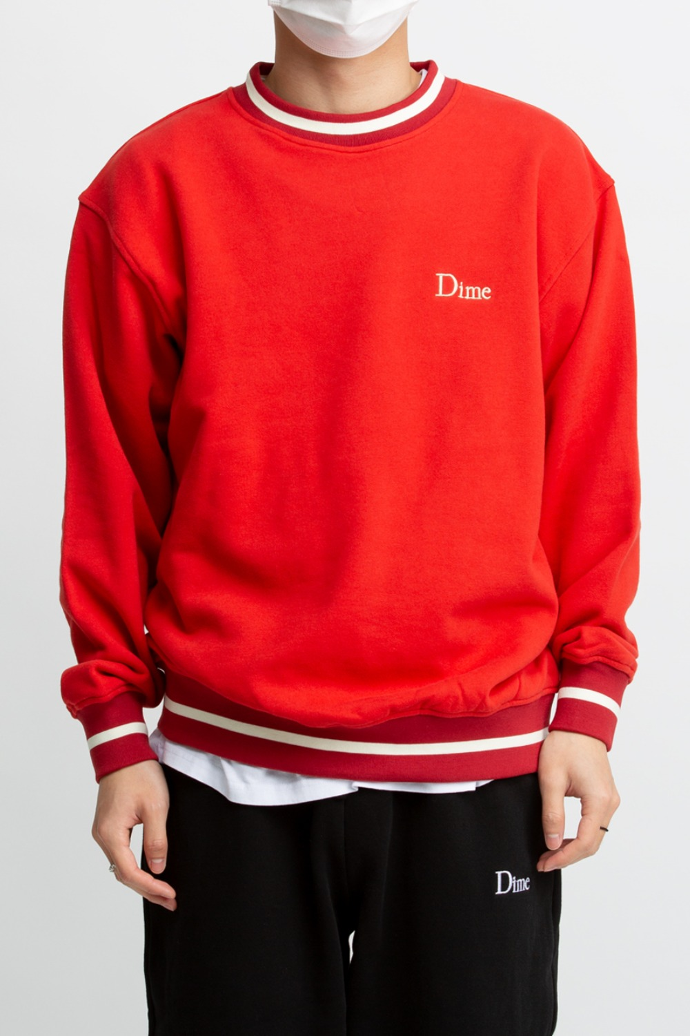 DIME CLASSIC FRENCH TERRY CREWNECK RED