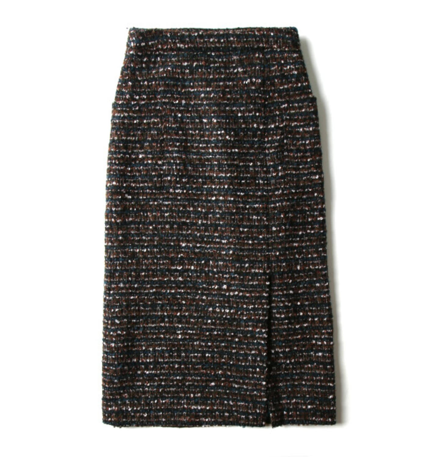 HIGHWAIST H-LINE SKIRT MULTICOLOR FANCY TWEED