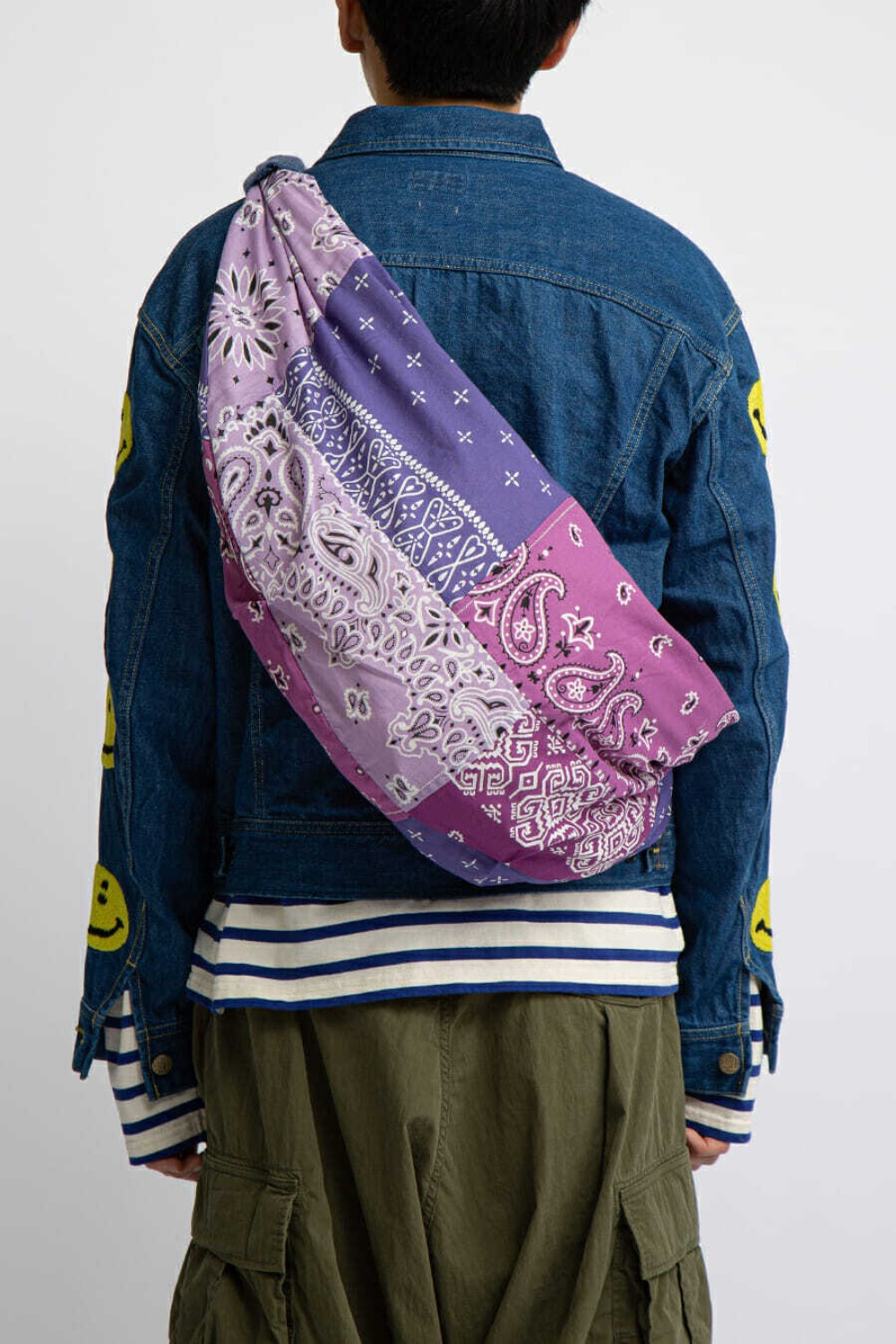 GAUZE BANDANA BEACH SNUFKIN BAG(EK-911) PURPLE