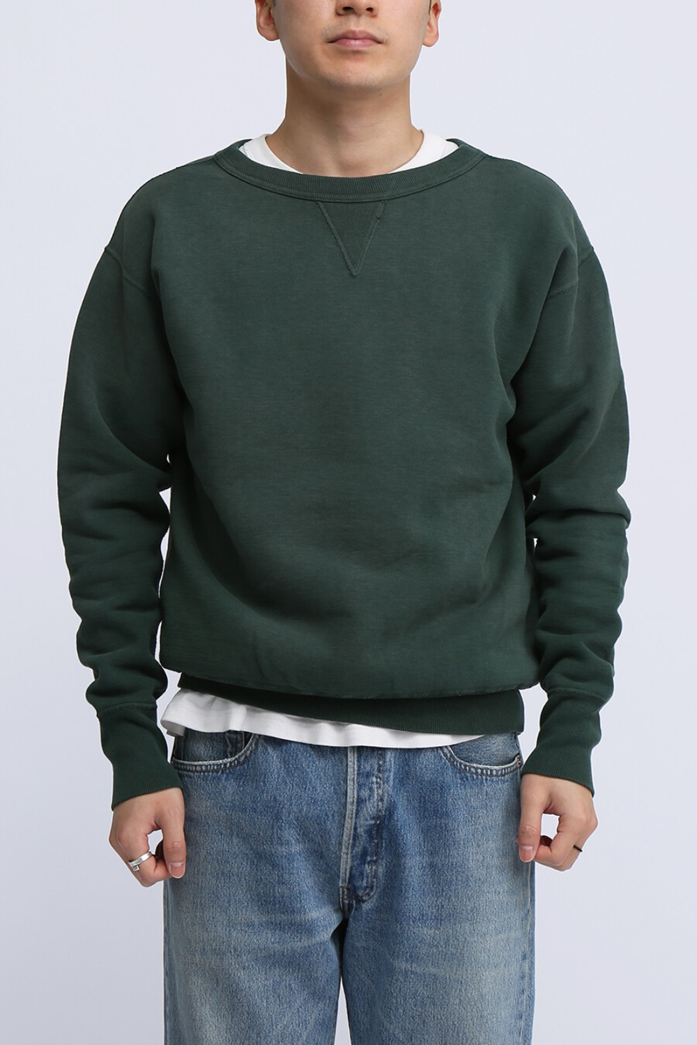 "LOT 474 CREW NECK SWEAT ""FADED"" GREEN"