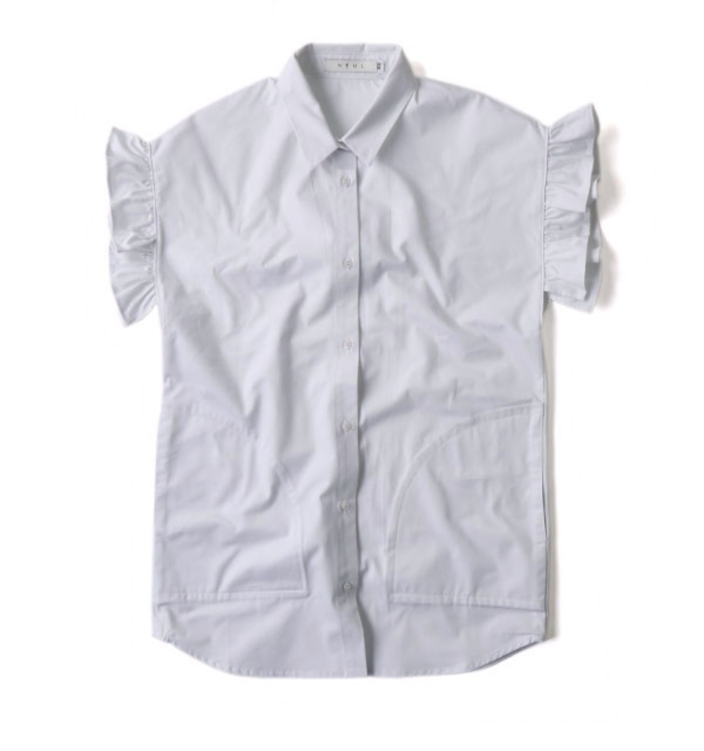 Frill-sleeves Shirts WHITE (NC-1004)