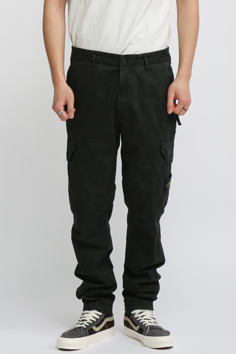T.CO+OLD CARGO PANTS BLACK