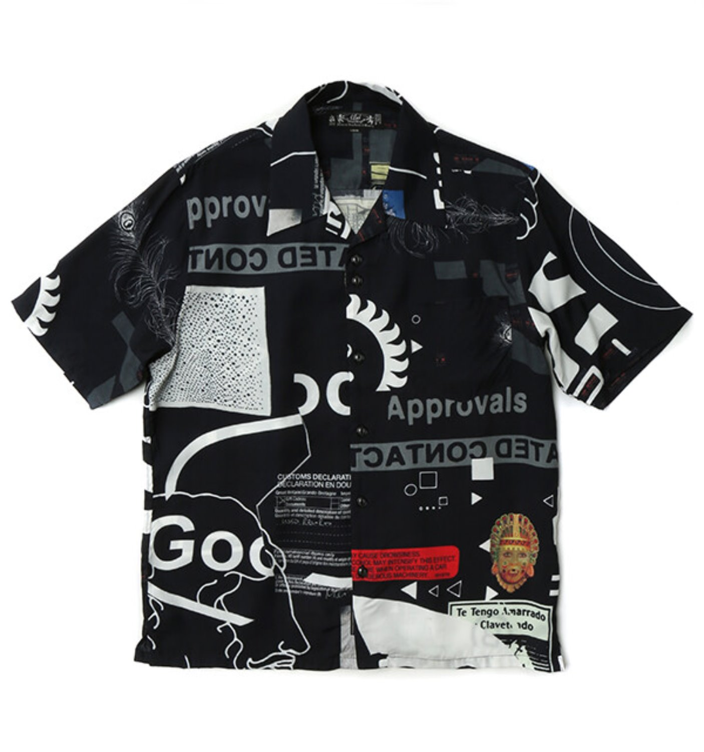 CO RAYON SS SHIRT CO-BLACK
