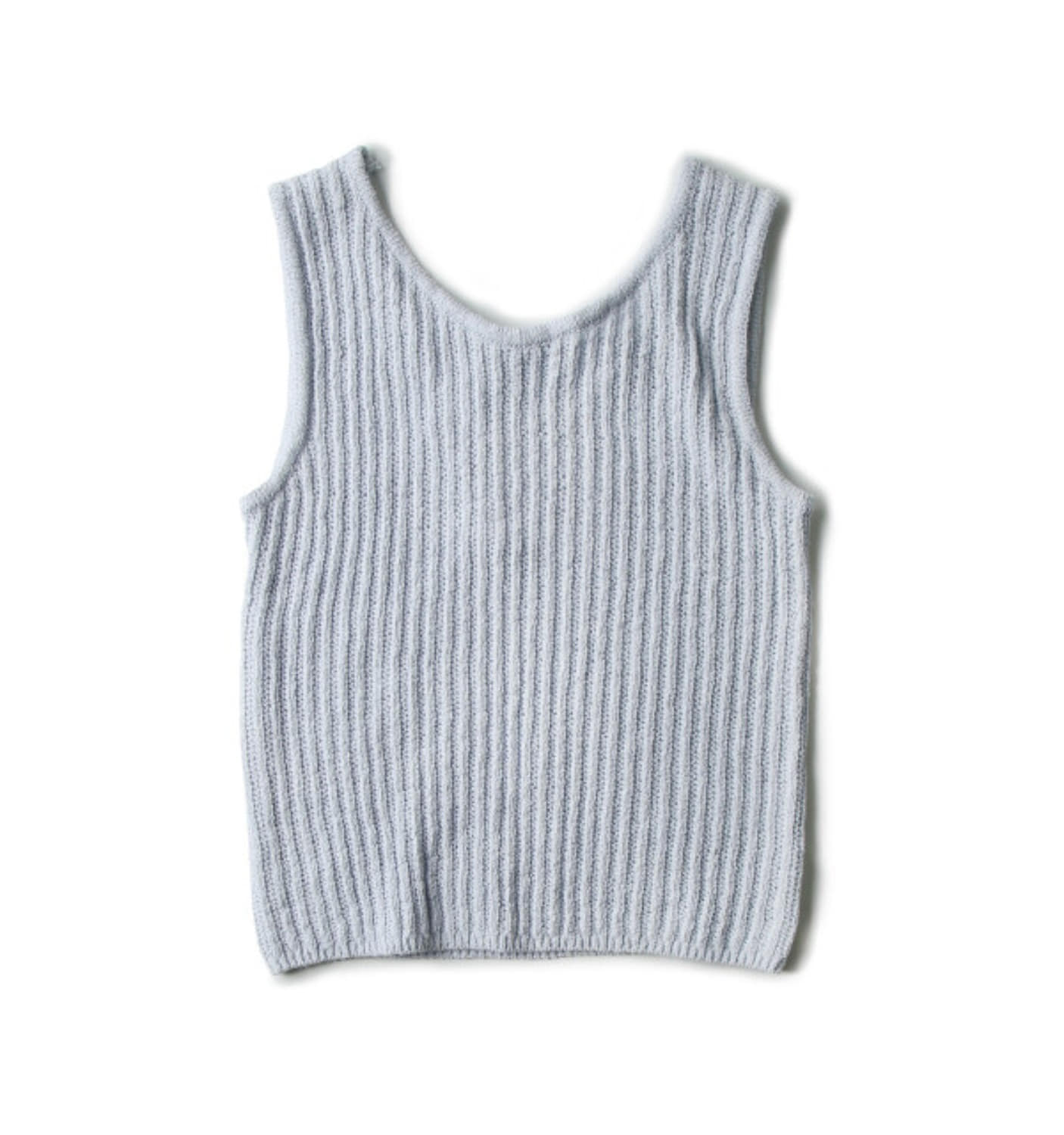 STRING SLEEVELESS SWEATER BLUE (NKN05003A)