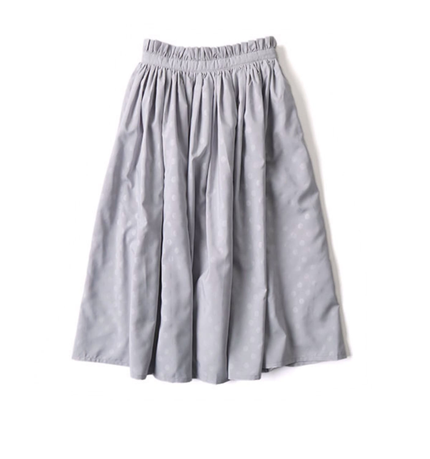 Shirring Skirt LIGHT GREY (NS-1004)