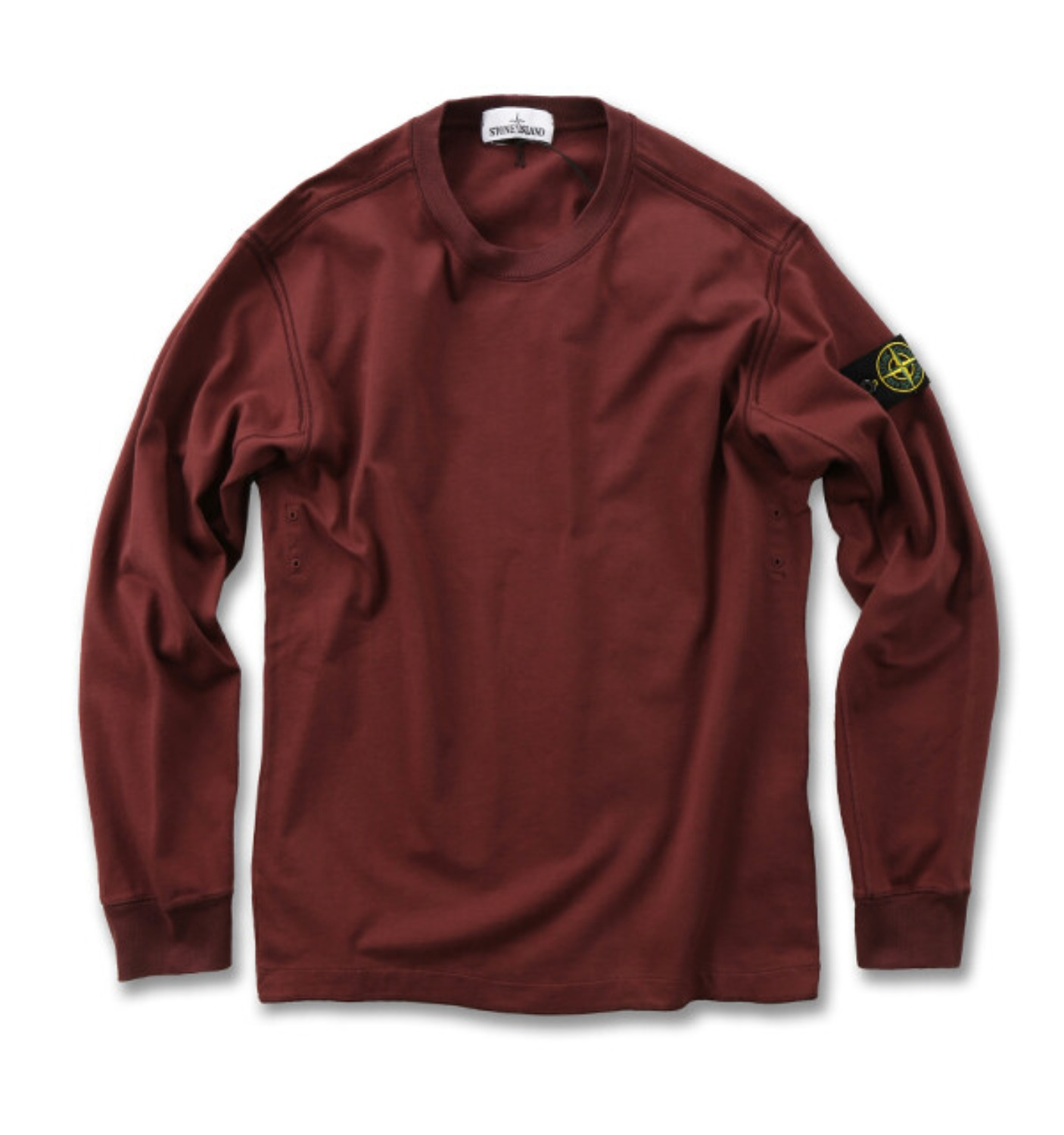 GARMENT DYED CREWNECK SWEATSHIRT BURGUNDY