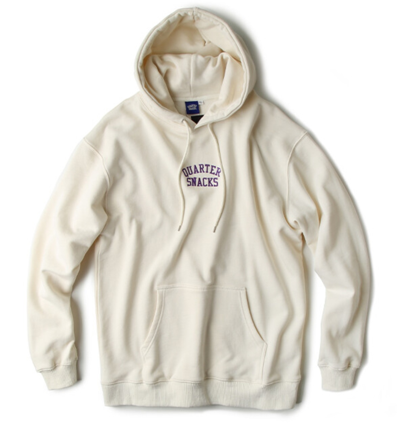 EMBROIDERED ARCH HOODY CREAM