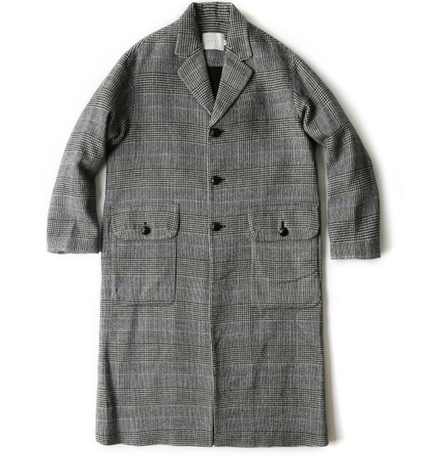 DADDYS GLEN CHECK COAT(NCO06008A) WHITE/BLACK