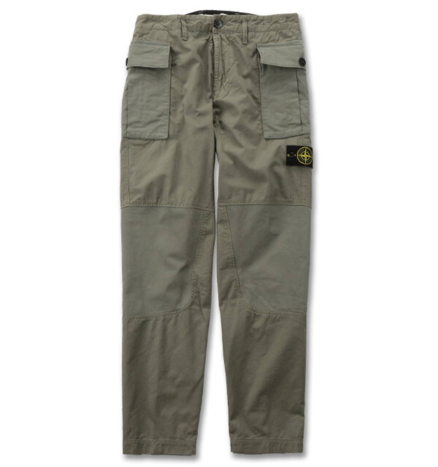 GAUZED COTTON RIP STOP GARMENT DYED PANTS KHAKI