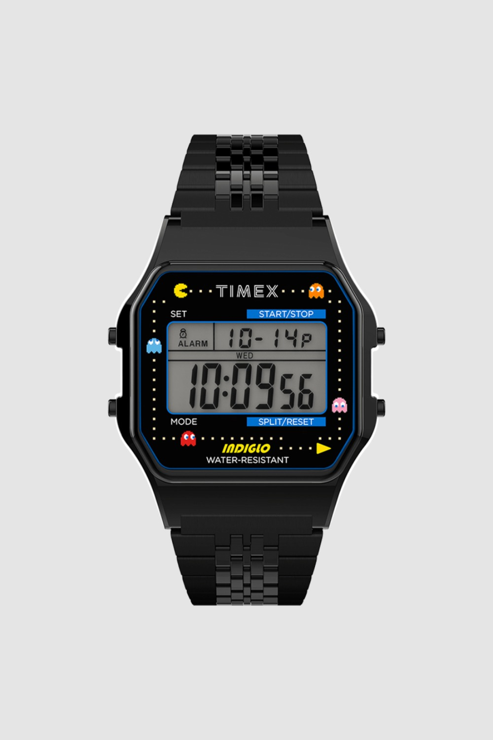 TIMEX X PAC-MAN™ T80 34mm STAINLESS STEEL BRACELET WATCH BLACK