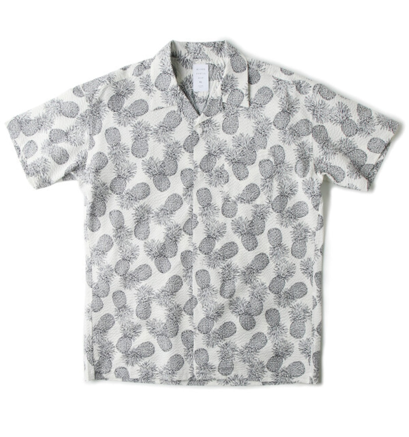 PINEAPPLE PRINTED SHIRT WHITE(MGM-SSH13)