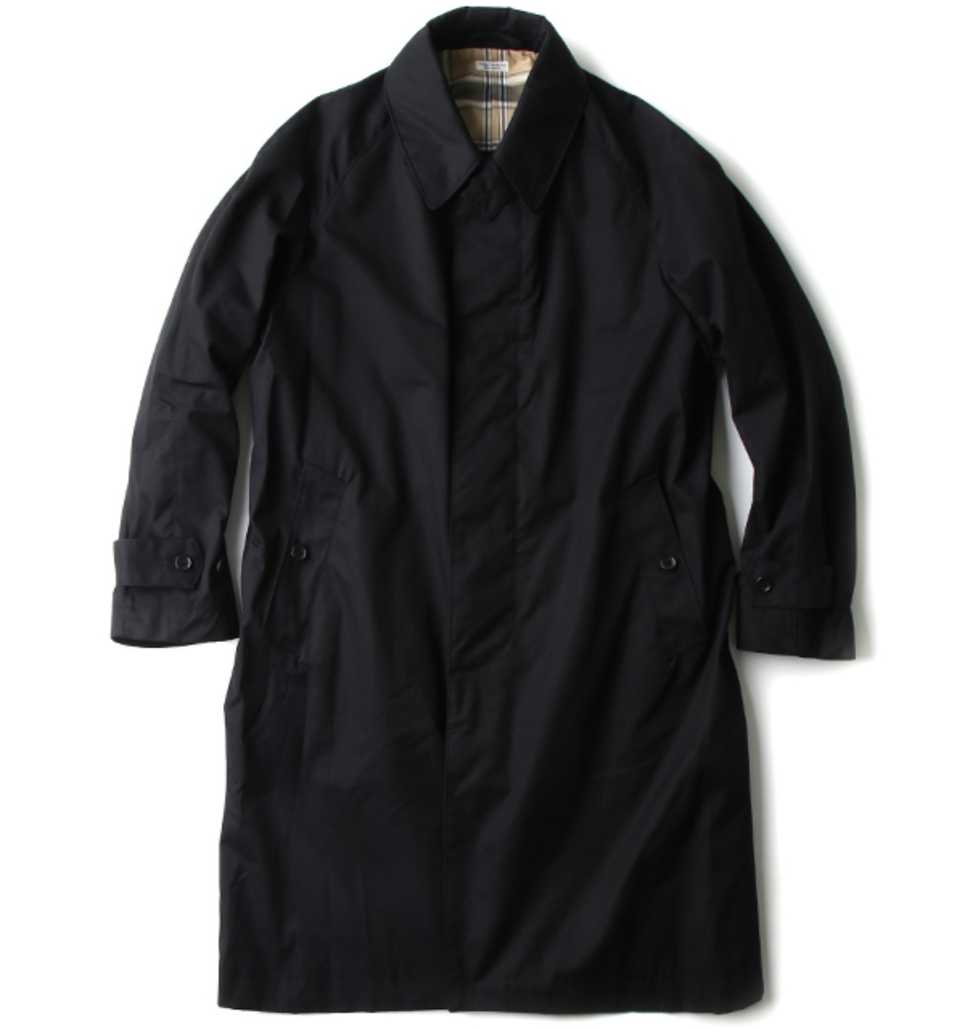 BAL COLLAR RAIN COAT BLACK(PMAE-OT08)