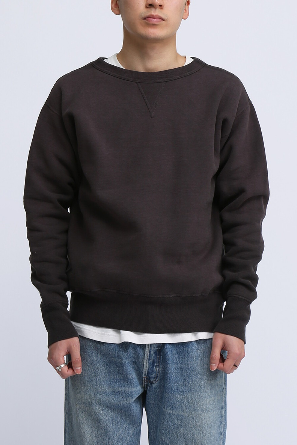 "LOT 474 CREW NECK SWEAT ""FADED"" BLACK"