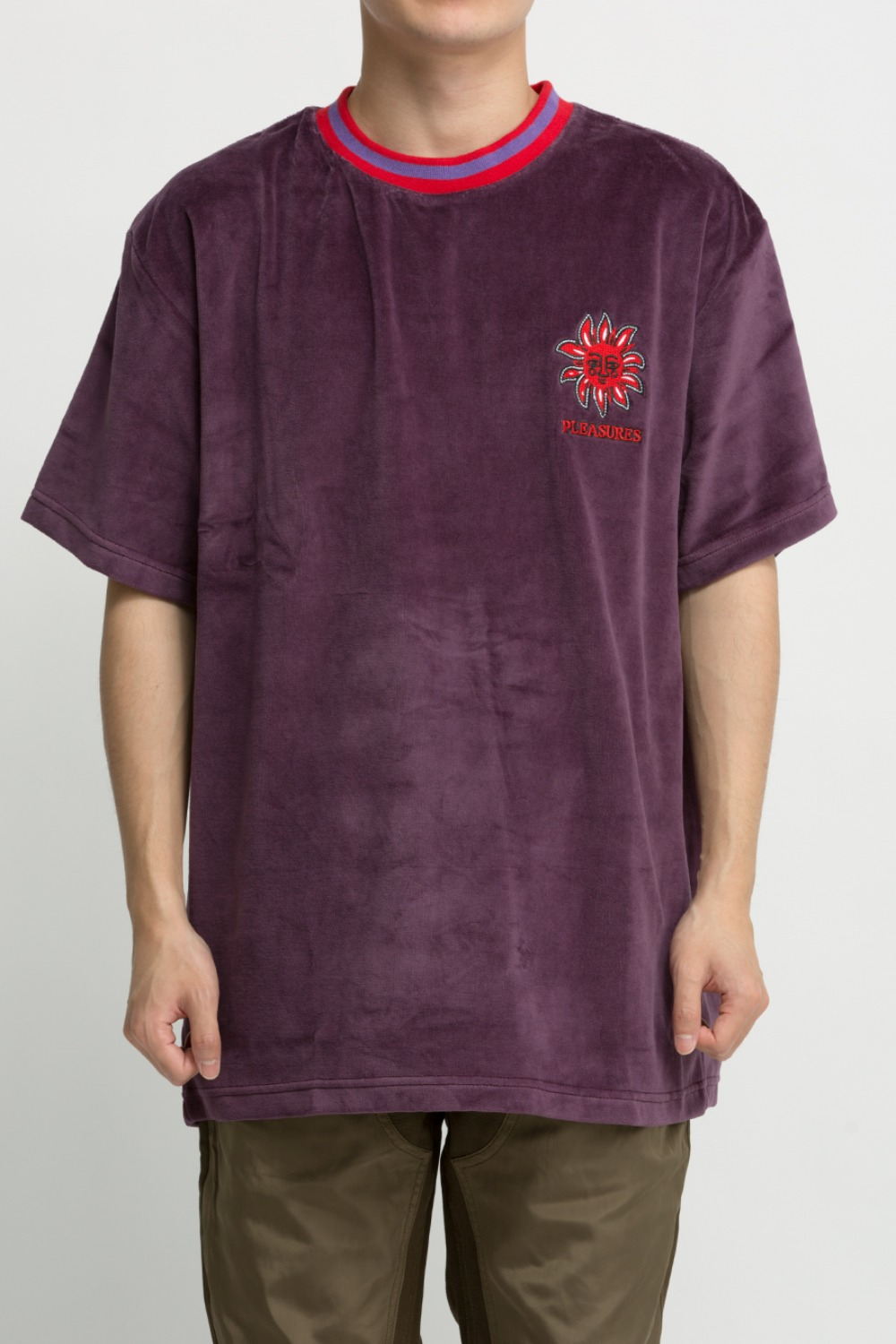 BRIGHT VELOUR T-SHIRT PURPLE