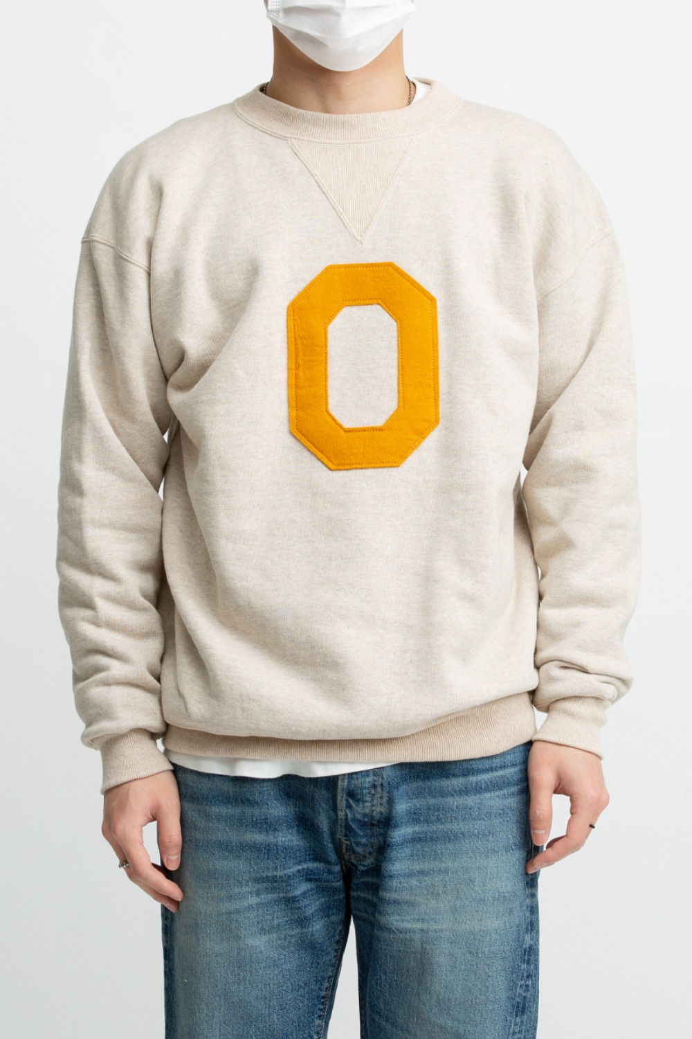 "LOT 467 2 NEEDLE CREW NECK BOTH V SWEAT SHIRT ""O"" GREY"
