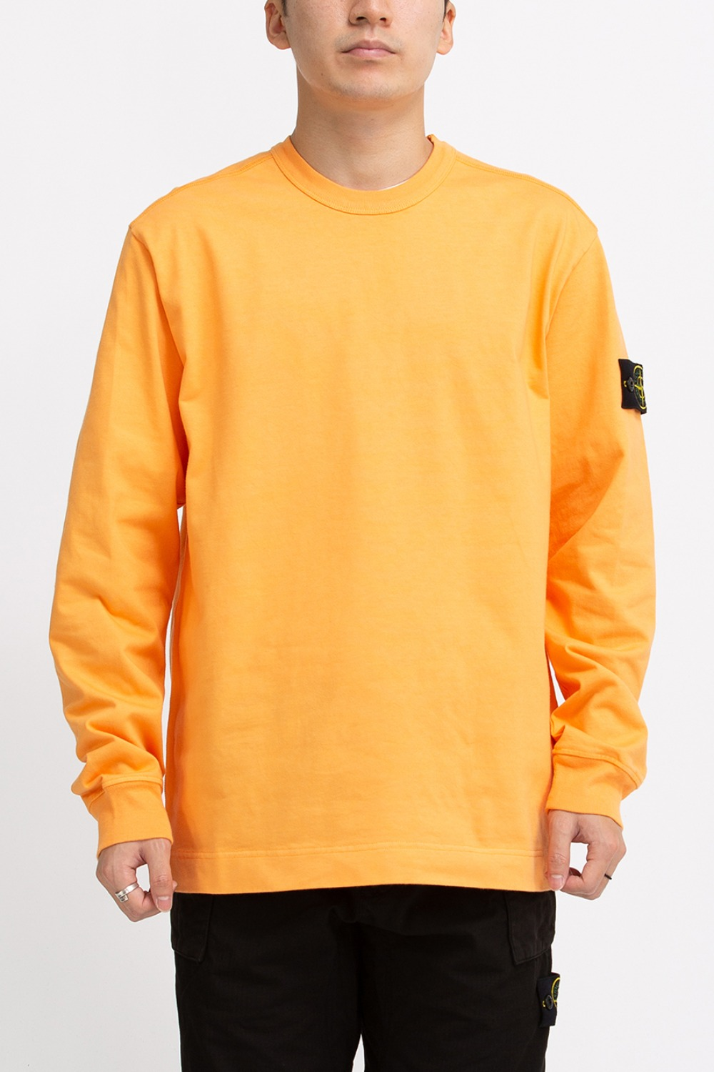 GARMENT DYED CREWNECK SWEATSHIRT ORANGE