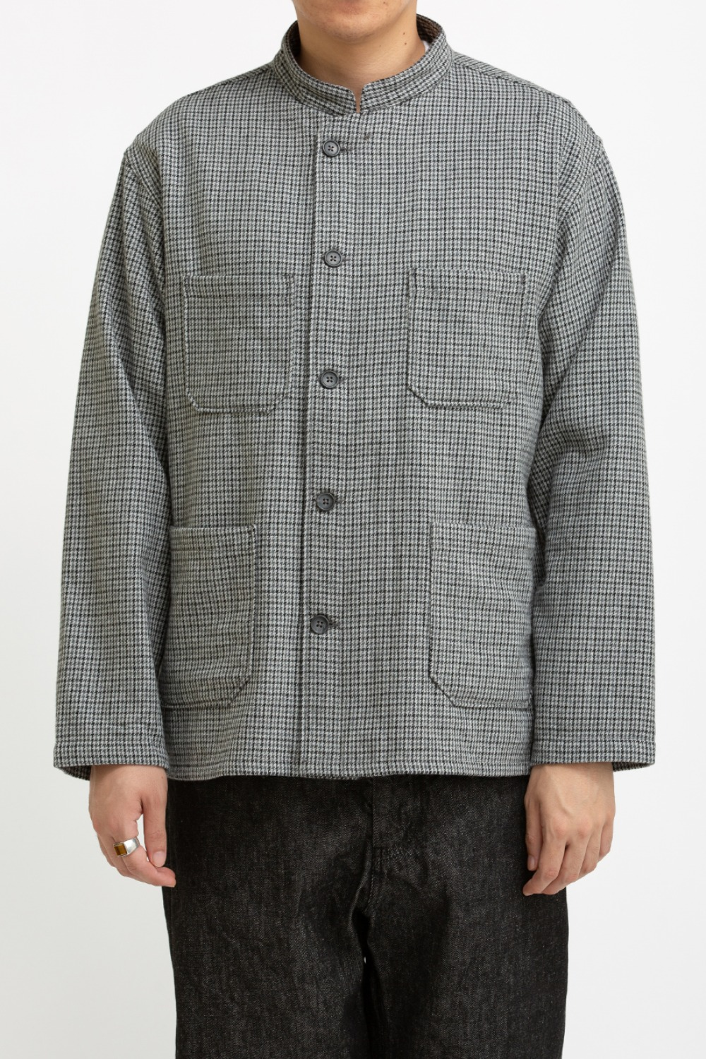 DAYTON SHIRT GREY WOOL POLY GUNCLUB