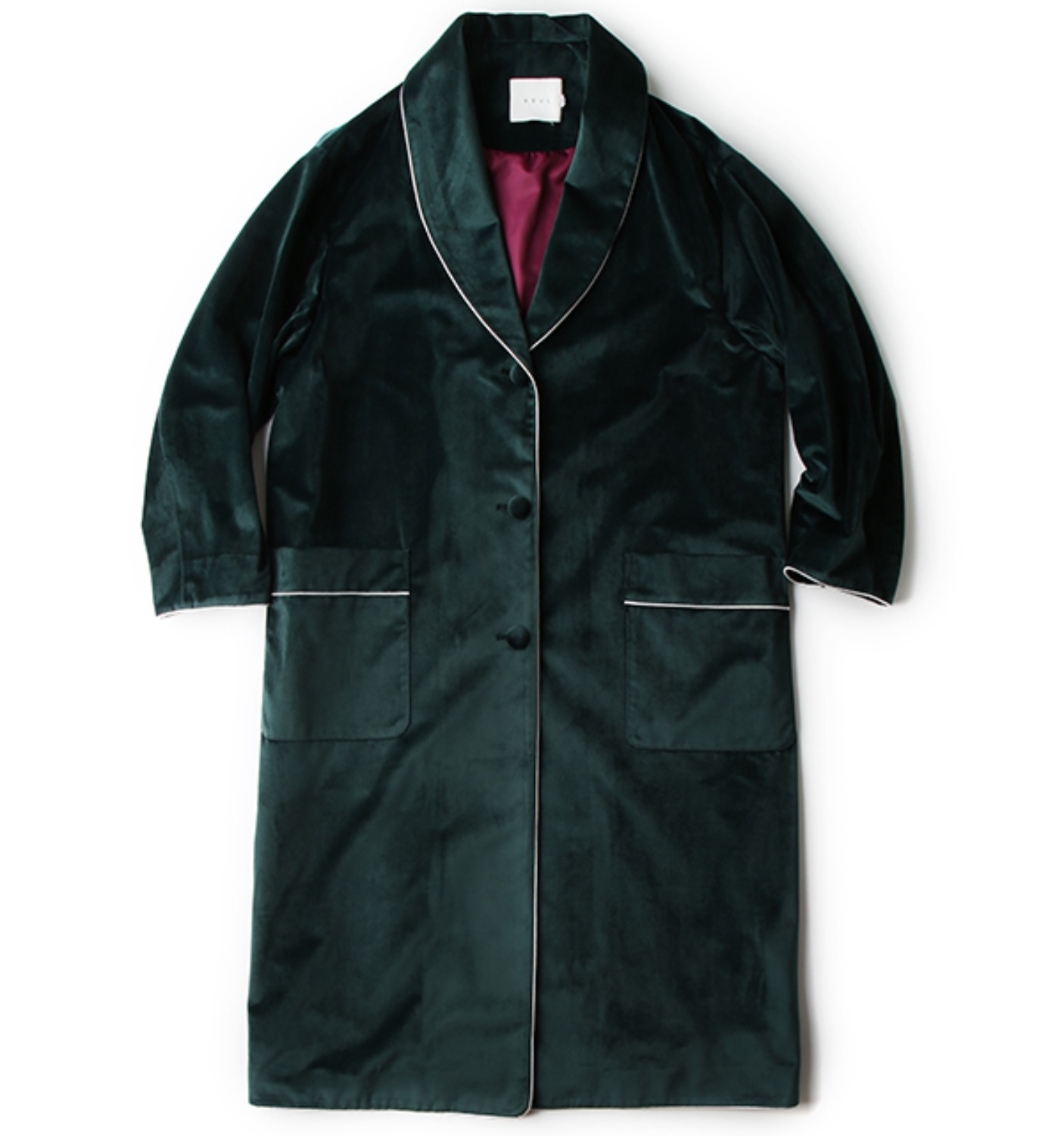 GOODNIGHT VELOUR COAT DARK GREEN(NCO04005A)