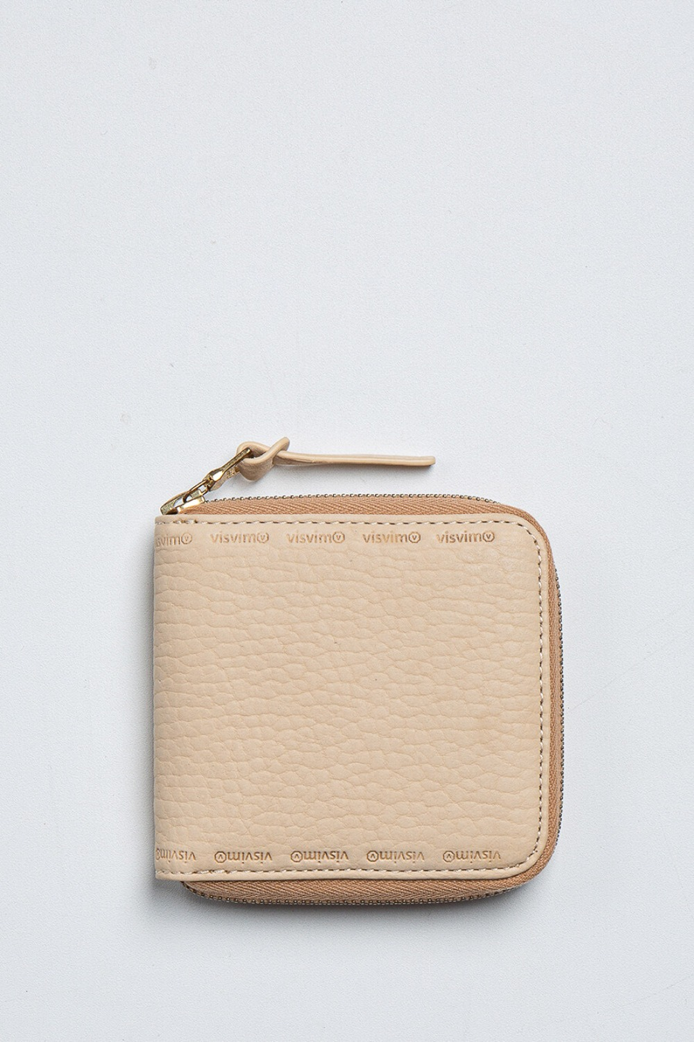 LEATHER BI-FOLD BEIGE