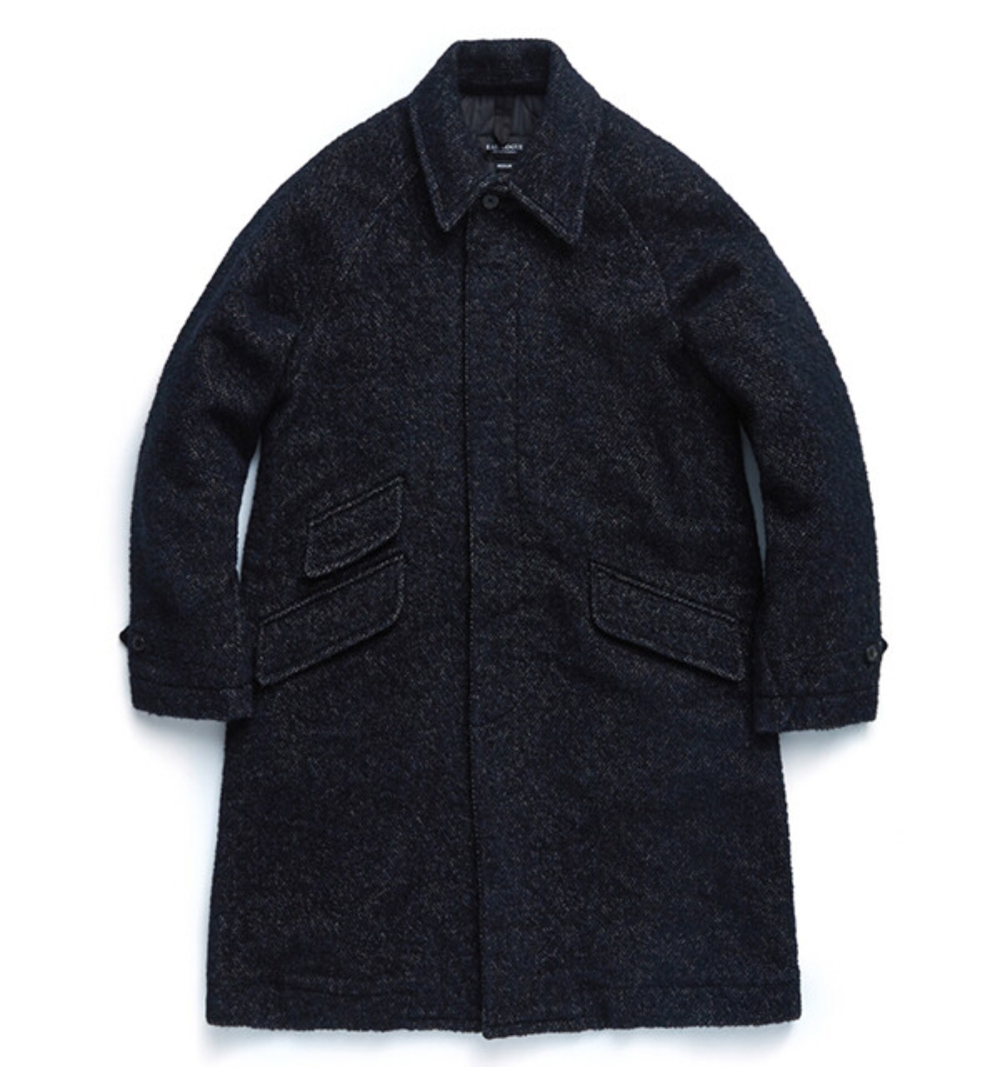 BALMACAAN COAT NAVY TOWEL