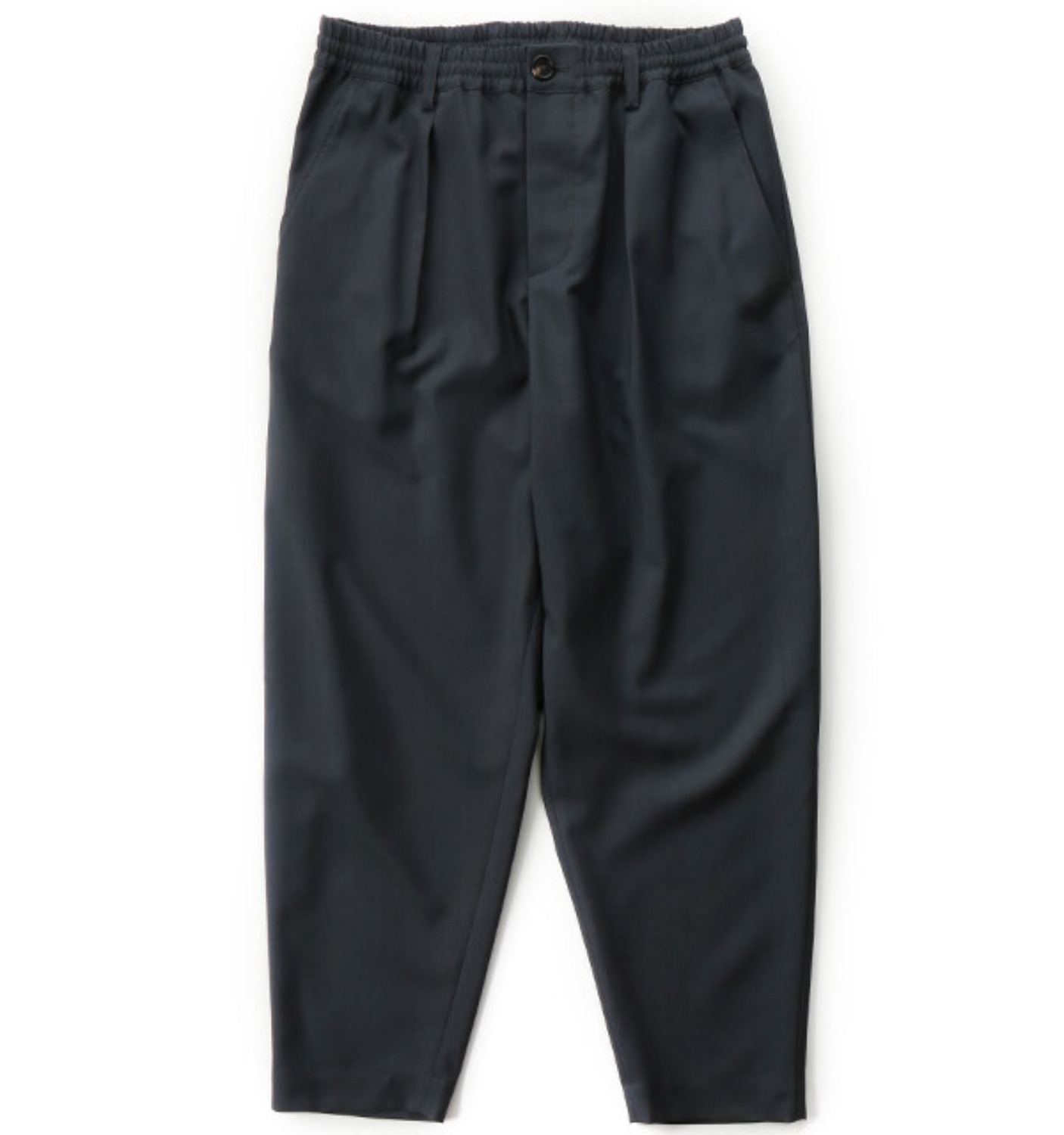 TROPICAL WOOL PANTS CHARCOAL