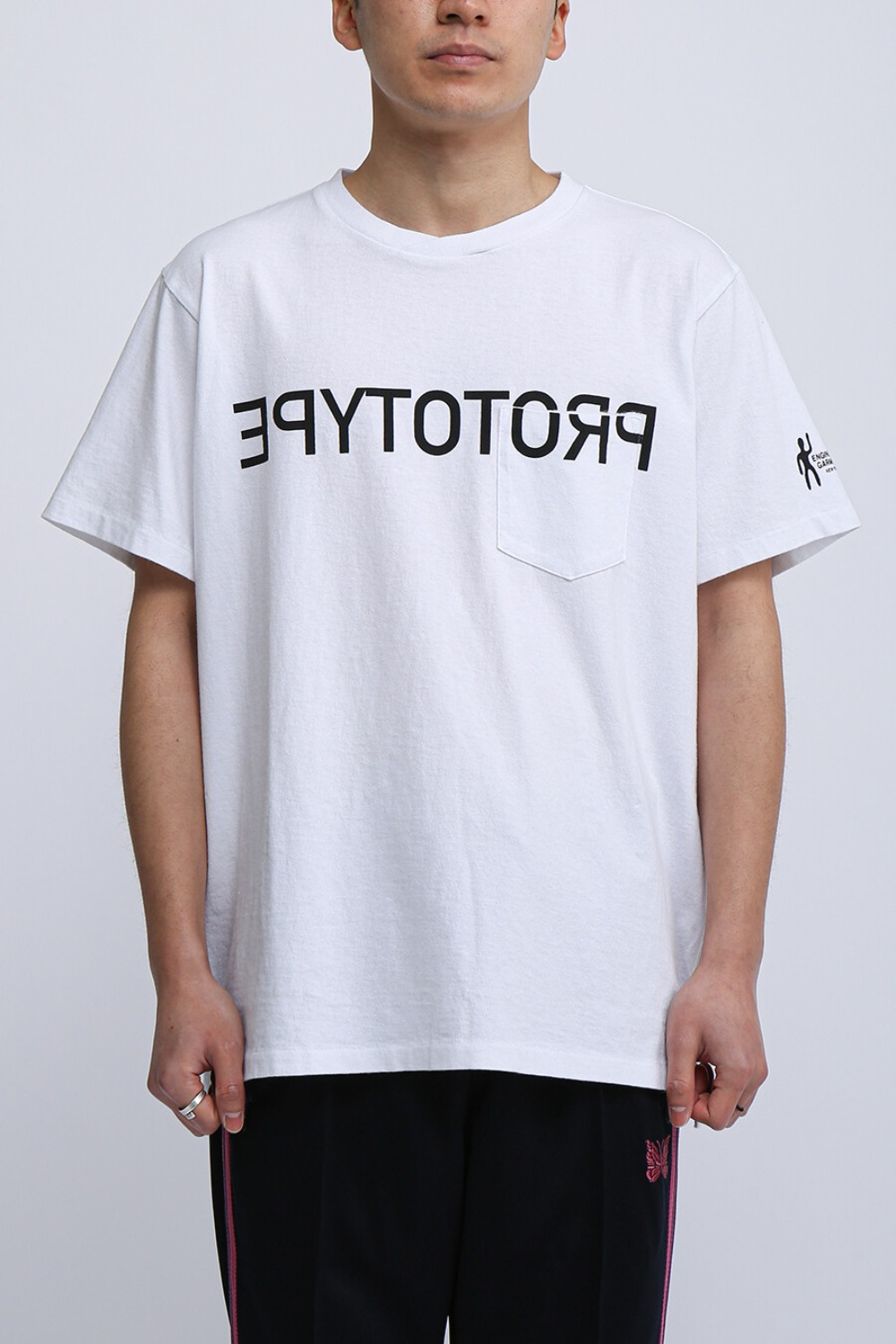 FOR SCULP X PRINTED CROSS CREW NECK T-SHIRT PROTOTYPE WHITE