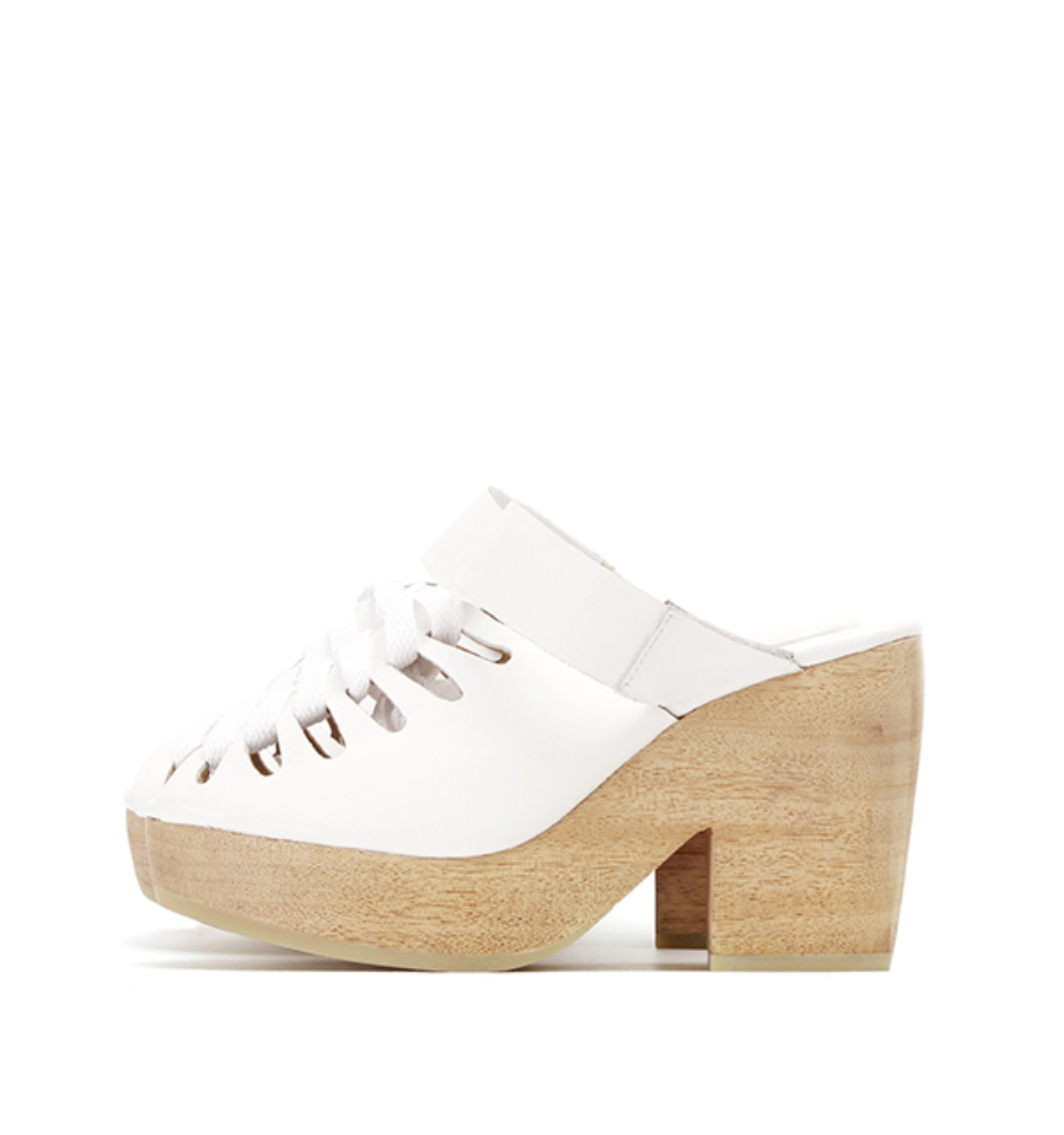 ETTA CLOG WHITE LEATHER