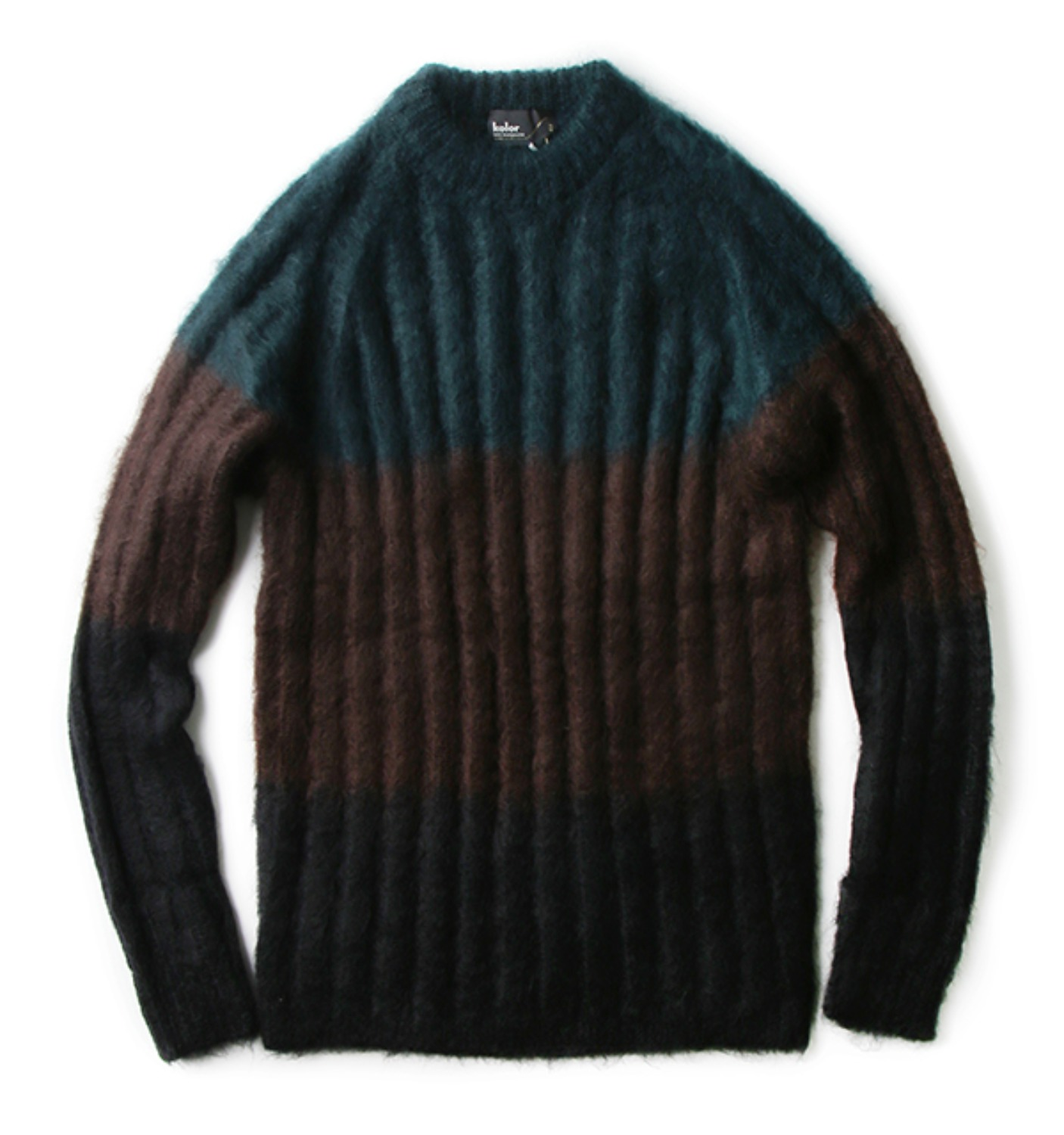 MOHAIR SWEATER BROWN(17WCM-N07304)