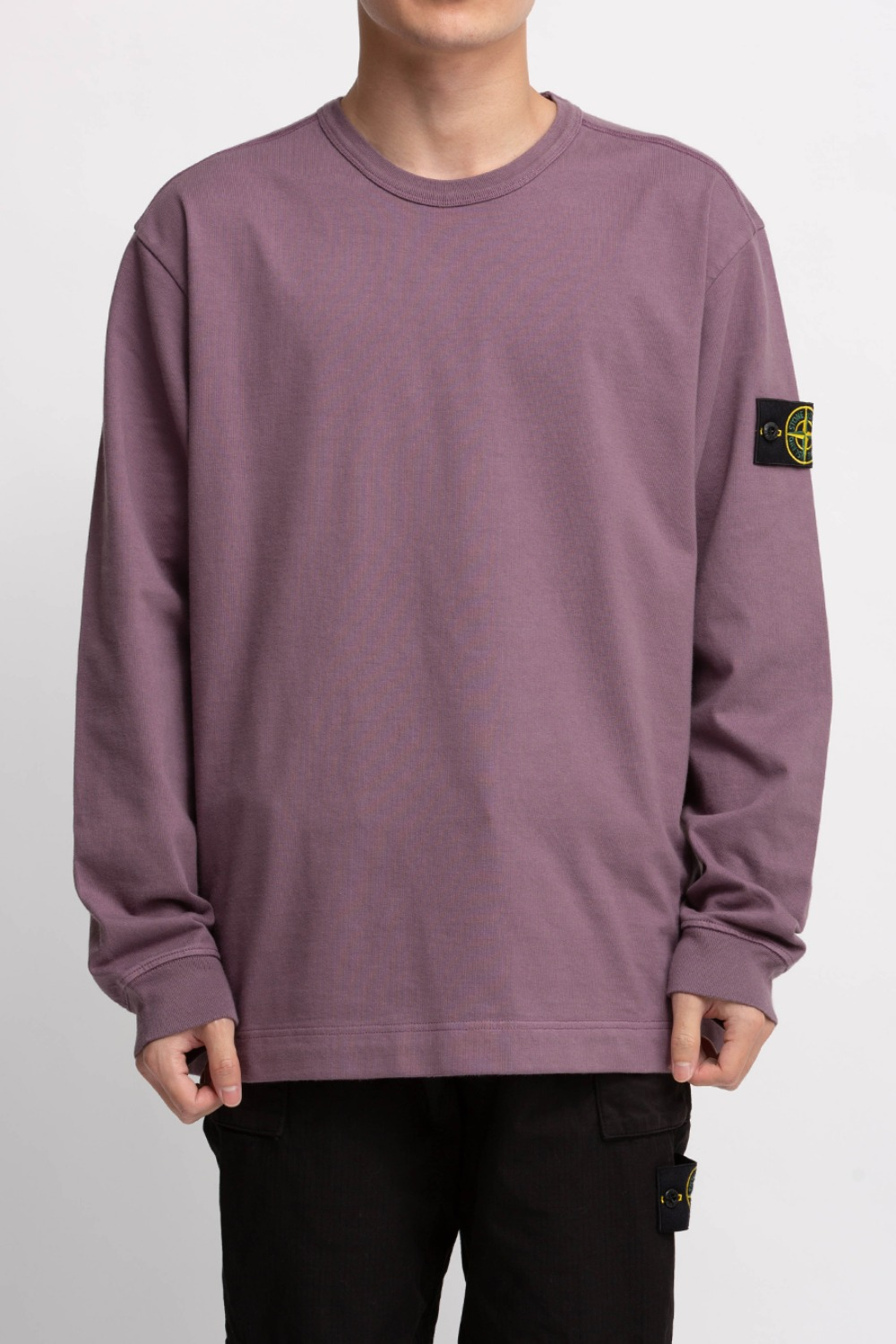 GARMENT DYED CREWNECK SWEATSHIRT PURPLE