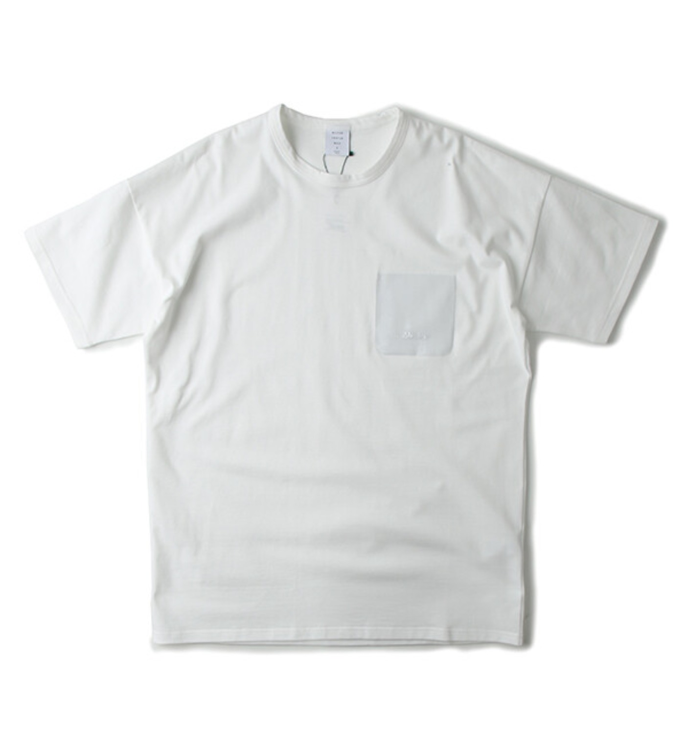 VINYL POCKET MODERN TEE WHITE(MGM-CS02)