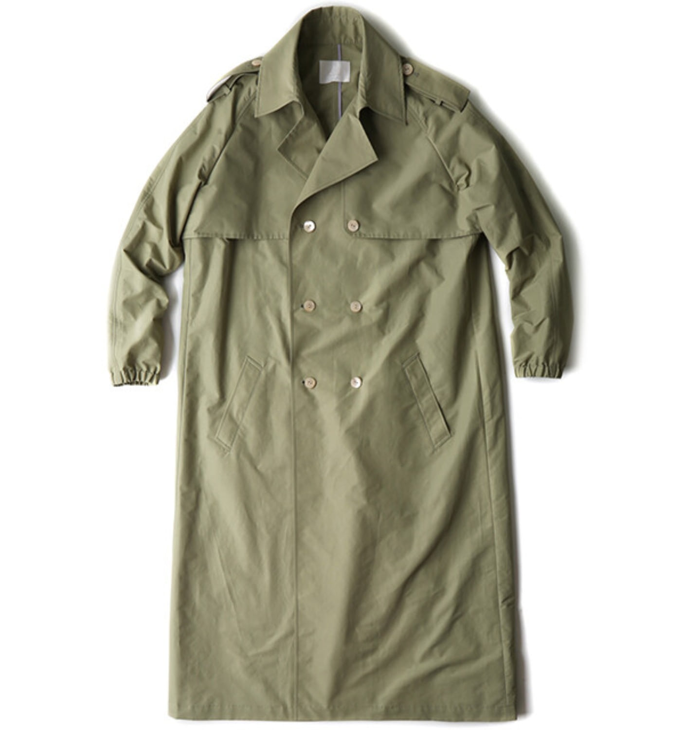 OVERSIZED TRENCH COAT SUMMER KHAKI