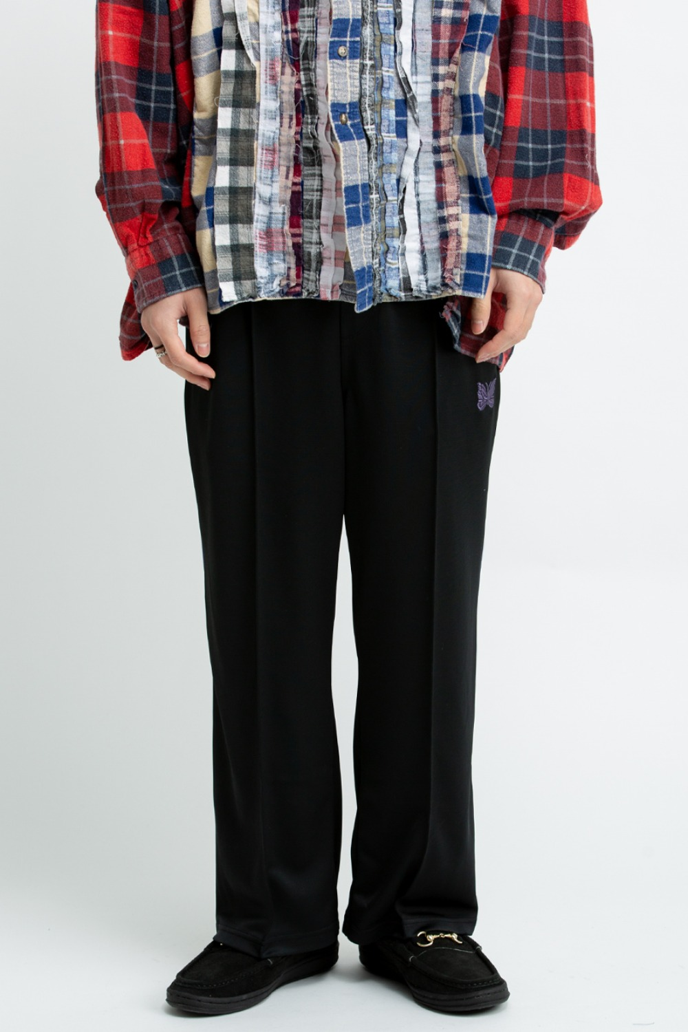 NEEDLES S.L. SEAM POCKET PANT - BRIGHT JERSEY BLACK