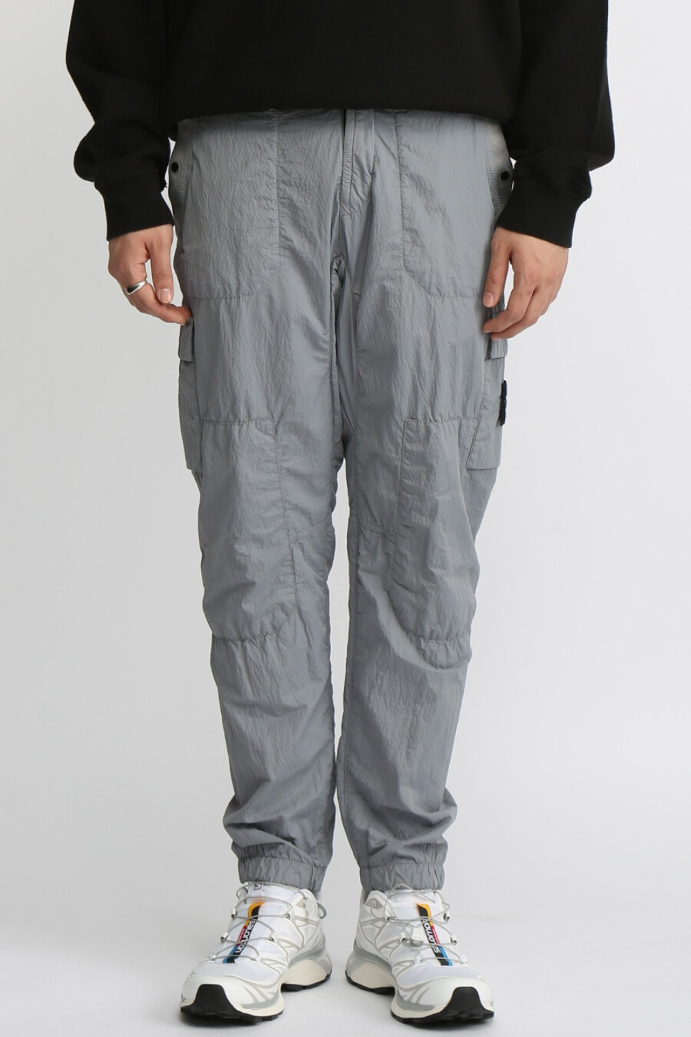S.I.PA/PL SEERSUCKER-TC CARGO PANTS(32029) GREY