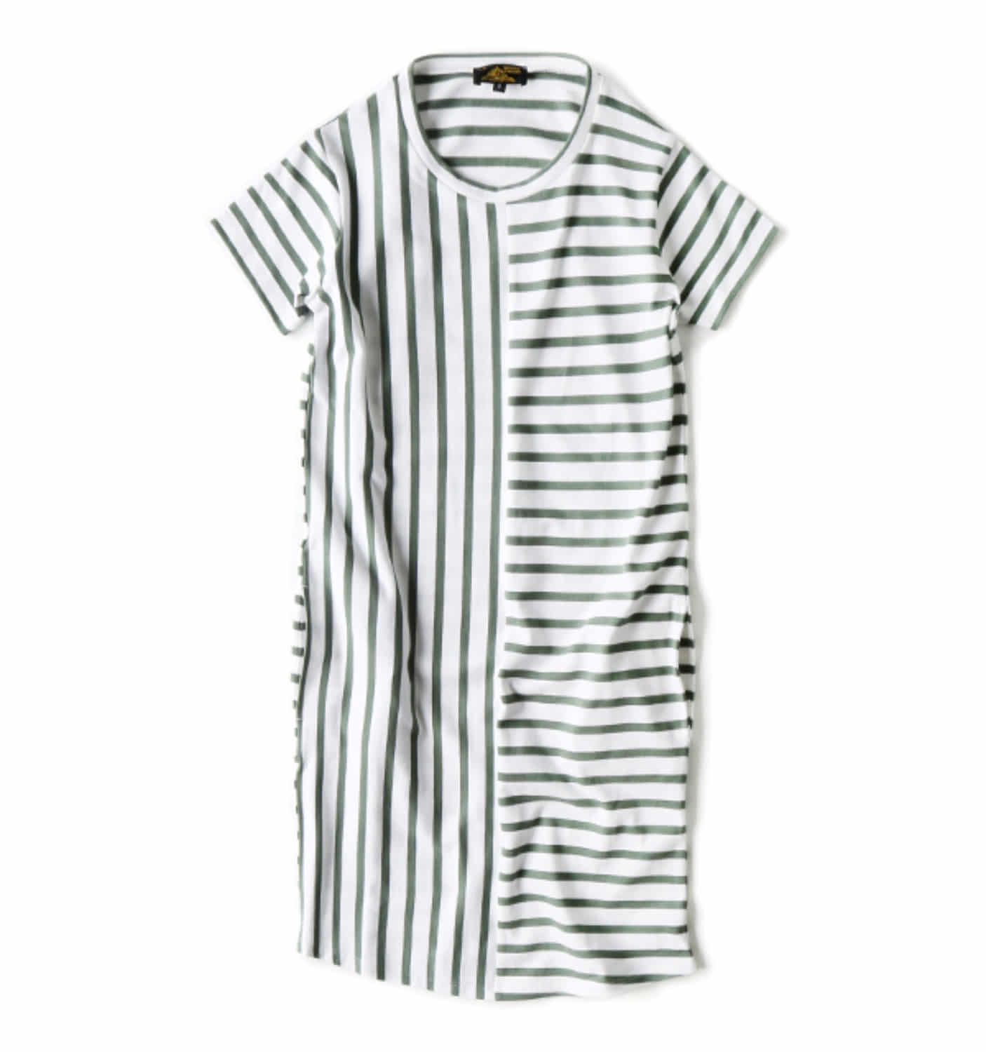 Striped dress WHITE/GREEN (12002F)
