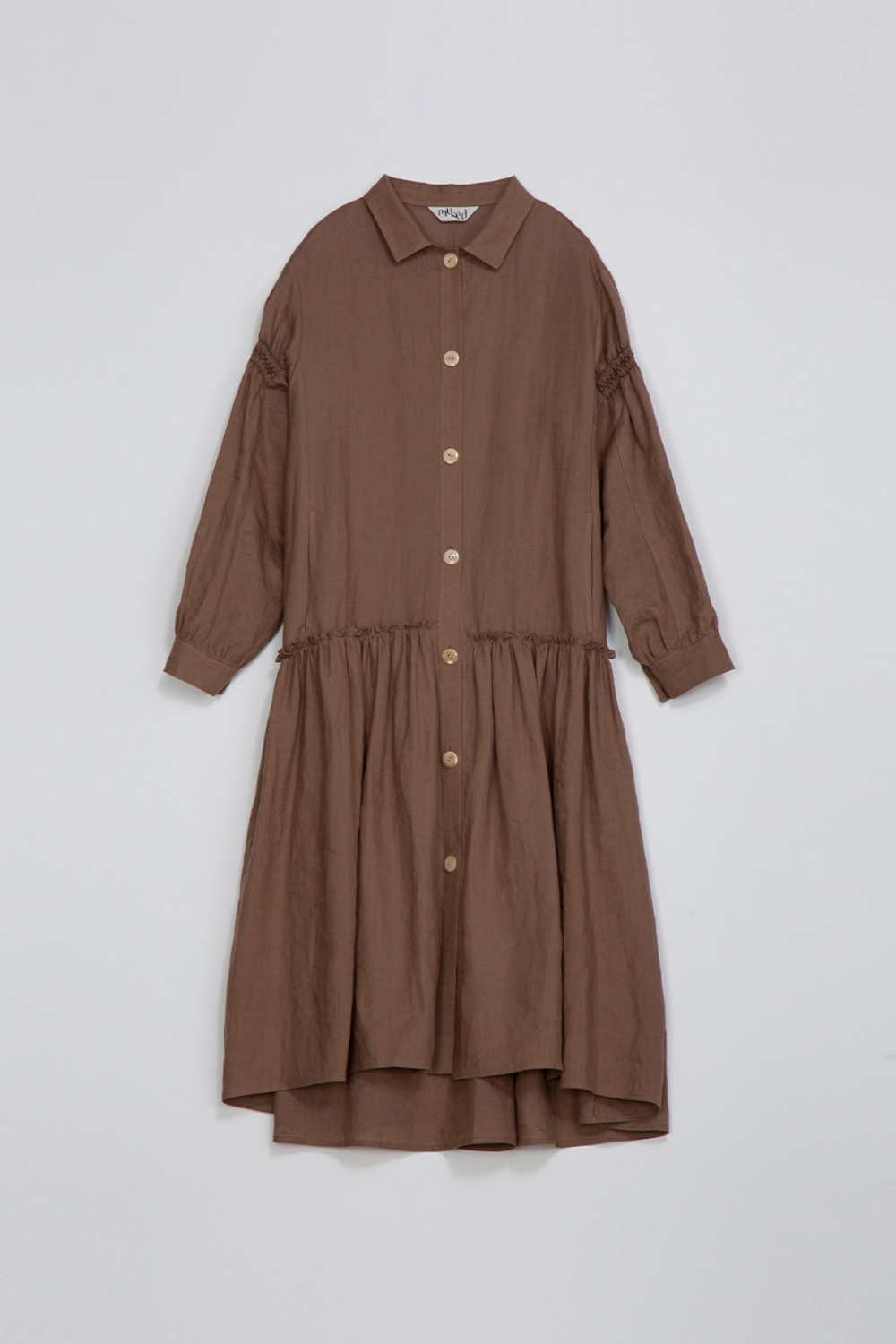 SAISON SHIRT DRESS - MOCHA LINEN