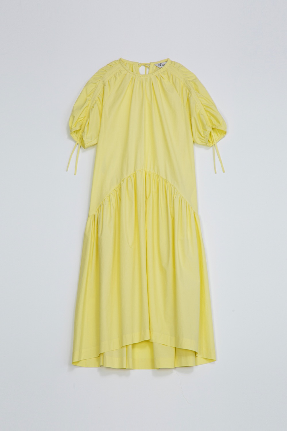 BELLE LUCING DRESS - LEMON COTTON
